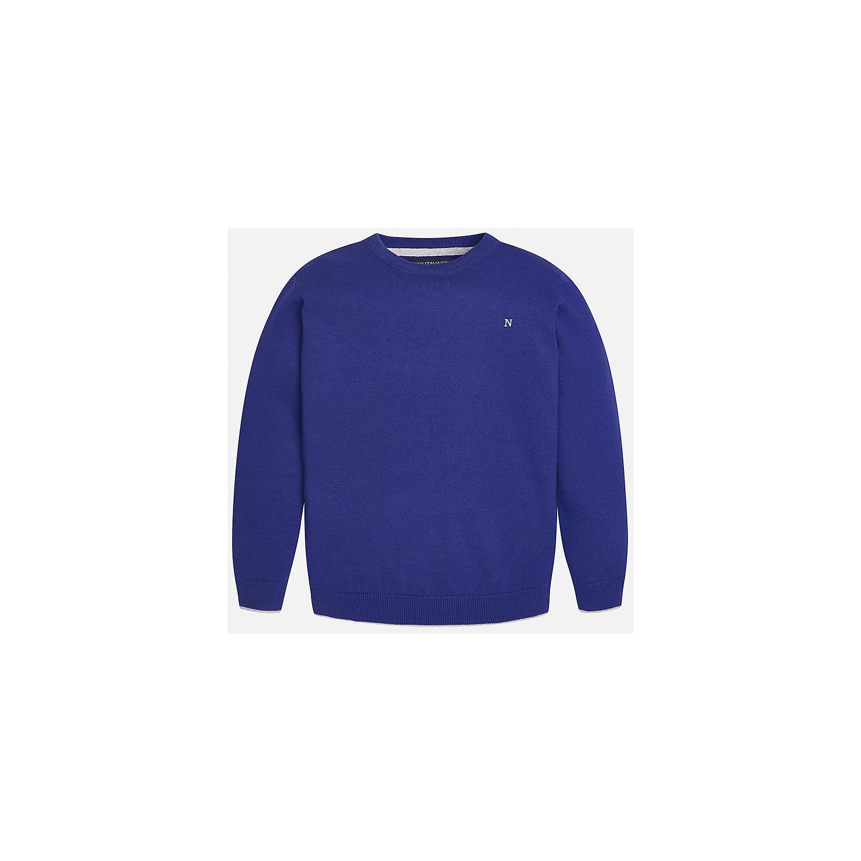 Свитер для мальчика MayoralКрасивый хлопковый свитер, с окантовкой внизу в виде трех серых полосок. Свитер хорошо садится и не тянется со временем.<br><br>Дополнительная информация:<br><br>- Прямой крой. <br>- Страна бренда: Испания.<br>- Состав: хлопок 100%<br>- Цвет: бордовый.<br>- Уход: бережная стирка при 30 градусах.<br><br>Купить свитер для мальчика Mayoral можно в нашем магазине.<br><br>Ширина мм: 190<br>Глубина мм: 74<br>Высота мм: 229<br>Вес г: 236<br>Цвет: бордовый<br>Возраст от месяцев: 96<br>Возраст до месяцев: 108<br>Пол: Мужской<br>Возраст: Детский<br>Размер: 128/134,164/170,158/164,152/158,146/152,134/140<br>SKU: 4821725