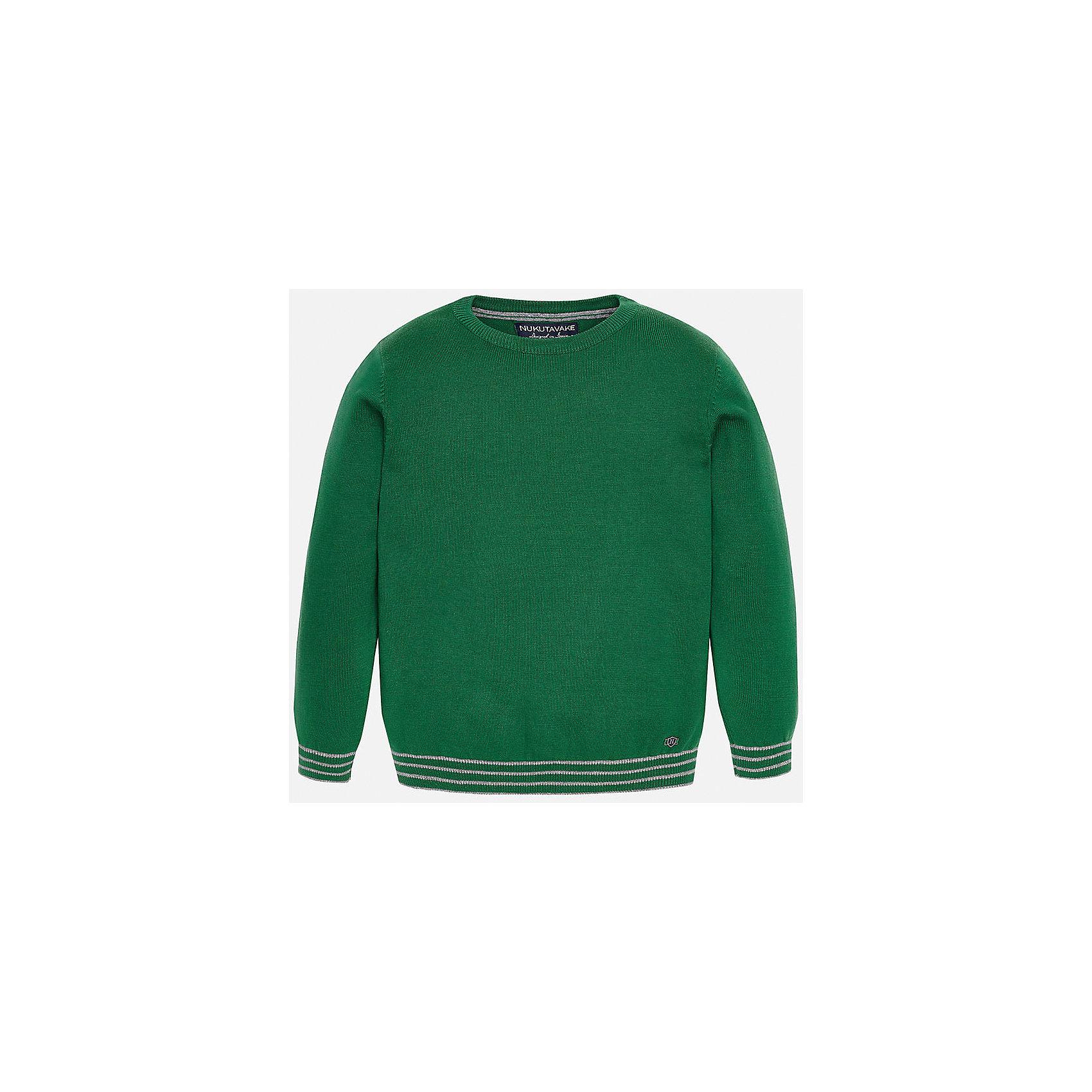 Свитер для мальчика MayoralСвитера и кардиганы<br>Красивый хлопковый свитер, с окантовкой внизу в виде трех серых полосок. Свитер хорошо садится и не тянется со временем.<br><br>Дополнительная информация:<br><br>- Прямой крой. <br>- Страна бренда: Испания.<br>- Состав: хлопок 100%<br>- Цвет: зеленый.<br>- Уход: бережная стирка при 30 градусах.<br><br>Купить свитер для мальчика Mayoral можно в нашем магазине.<br><br>Ширина мм: 190<br>Глубина мм: 74<br>Высота мм: 229<br>Вес г: 236<br>Цвет: зеленый<br>Возраст от месяцев: 108<br>Возраст до месяцев: 120<br>Пол: Мужской<br>Возраст: Детский<br>Размер: 158/164,164/170,152/158,146/152,128/134,134/140<br>SKU: 4821732