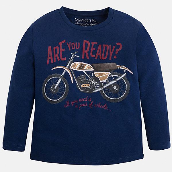 Футболка с длинным рукавом для мальчика MayoralФутболки с длинным рукавом<br>Хлопковая футболка с длинными рукавами - это  базовая вещь в любом гардеробе. Благодаря длинным рукавам и легкому составу, ее можно носить в любое время года, а яркий орнамент, подчеркнет индивидуальный стиль Вашего ребенка!<br><br>Дополнительная информация:<br><br>- Крой: прямой крой.<br>- Страна бренда: Испания.<br>- Состав: хлопок 90%, вискоза 10%.<br>- Цвет: темно-синий.<br>- Уход: бережная стирка при 30 градусах.<br><br>Купить футболку с длинным рукавом для мальчика, от  Mayoral, можно в нашем магазине.<br><br>Ширина мм: 230<br>Глубина мм: 40<br>Высота мм: 220<br>Вес г: 250<br>Цвет: синий<br>Возраст от месяцев: 18<br>Возраст до месяцев: 24<br>Пол: Мужской<br>Возраст: Детский<br>Размер: 92,116,122,128,134,98,104,110<br>SKU: 4821854
