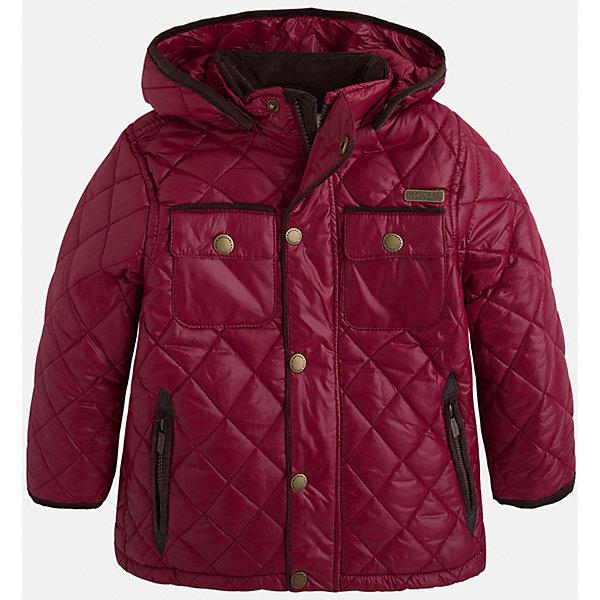 Куртка для мальчика MayoralВерхняя одежда<br>Стильная, теплая осенняя куртка для юного джентльмена!<br>Порадуйте своего ребенка хорошим подарком!<br><br>Дополнительная информация:<br><br>- Крой: прямой крой, слегка расклешен к низу.<br>- Страна бренда: Испания.<br>- Состав: <br>Верхняя ткань: полиэстер 100%.<br>Подкладка: полиэстер 100%.<br>Наполнитель: полиэстер 100%.<br>- Цвет: бордовый.<br>- Уход: бережная стирка при 30 градусах.<br><br>Купить куртку для мальчика Mayoral можно в нашем магазине.<br>Ширина мм: 356; Глубина мм: 10; Высота мм: 245; Вес г: 519; Цвет: бордовый; Возраст от месяцев: 96; Возраст до месяцев: 108; Пол: Мужской; Возраст: Детский; Размер: 128,134,98,104,110,116,122; SKU: 4821921;