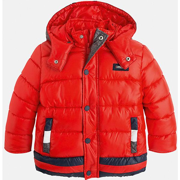 Куртка для мальчика MayoralДемисезонные куртки<br>Стильная, теплая осенняя куртка для юного джентльмена!<br>Порадуйте своего ребенка хорошим подарком!<br><br>Дополнительная информация:<br><br>- Крой: прямой крой, удлиненная модель.<br>- Страна бренда: Испания.<br>- Состав: <br>Верхняя ткань: полиэстер 100%.<br>Подкладка: полиэстер 100%.<br>Наполнитель: полиэстер 100%.<br>- Цвет: красный.<br>- Уход: бережная стирка при 30 градусах.<br><br>Купить куртку для мальчика Mayoral можно в нашем магазине.<br><br>Ширина мм: 356<br>Глубина мм: 10<br>Высота мм: 245<br>Вес г: 519<br>Цвет: коричневый<br>Возраст от месяцев: 96<br>Возраст до месяцев: 108<br>Пол: Мужской<br>Возраст: Детский<br>Размер: 128,134,98,104,110,116,122<br>SKU: 4821937