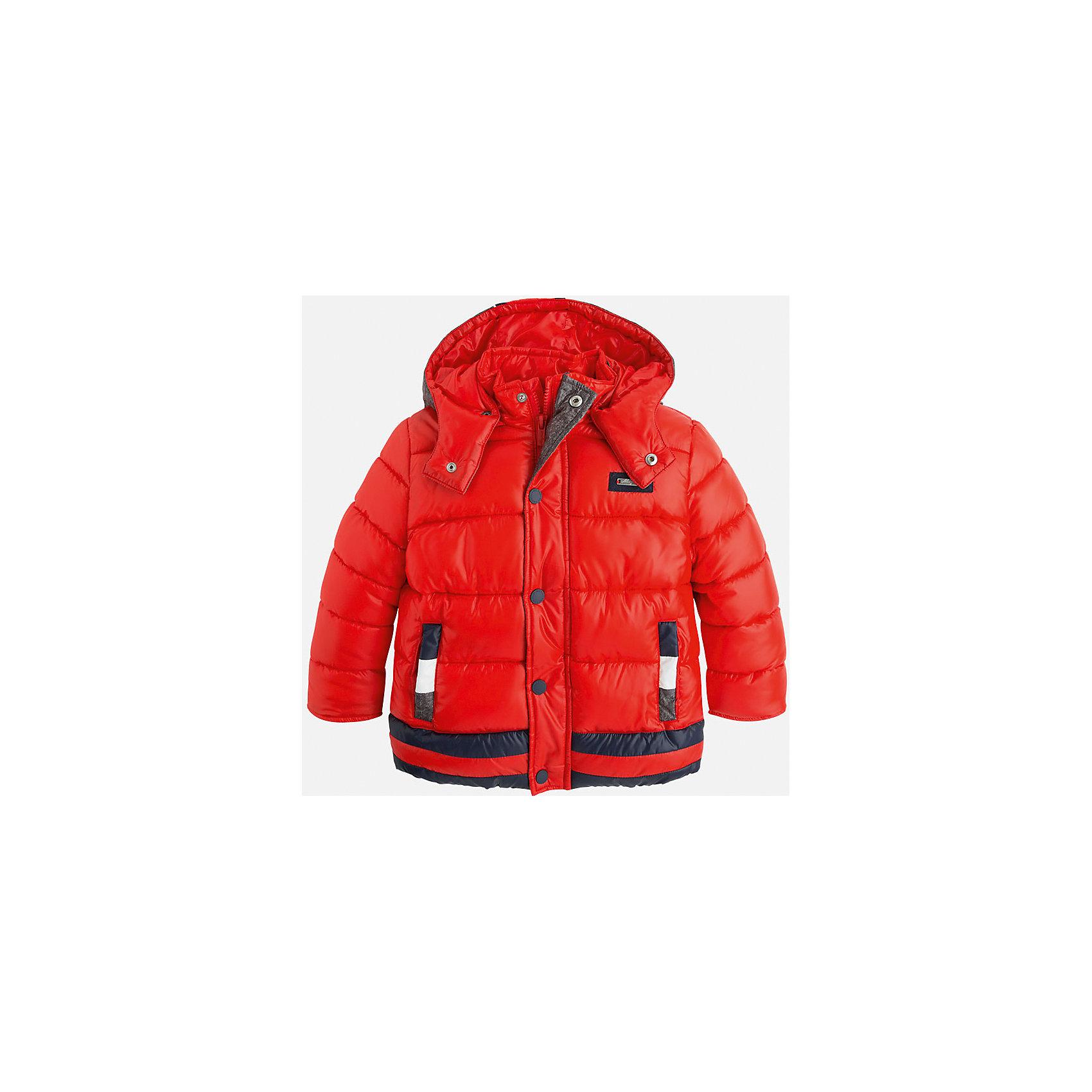 Куртка для мальчика MayoralСтильная, теплая осенняя куртка для юного джентльмена!<br>Порадуйте своего ребенка хорошим подарком!<br><br>Дополнительная информация:<br><br>- Крой: прямой крой, удлиненная модель.<br>- Страна бренда: Испания.<br>- Состав: <br>Верхняя ткань: полиэстер 100%.<br>Подкладка: полиэстер 100%.<br>Наполнитель: полиэстер 100%.<br>- Цвет: красный.<br>- Уход: бережная стирка при 30 градусах.<br><br>Купить куртку для мальчика Mayoral можно в нашем магазине.<br><br>Ширина мм: 356<br>Глубина мм: 10<br>Высота мм: 245<br>Вес г: 519<br>Цвет: коричневый<br>Возраст от месяцев: 24<br>Возраст до месяцев: 36<br>Пол: Мужской<br>Возраст: Детский<br>Размер: 98,134,128,122,116,110,104<br>SKU: 4821937
