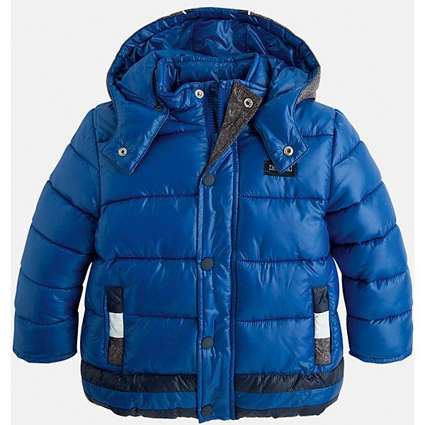 Куртка для мальчика MayoralВерхняя одежда<br>Стильная, теплая осенняя куртка для юного джентльмена!<br>Порадуйте своего ребенка хорошим подарком!<br><br>Дополнительная информация:<br><br>- Крой: прямой крой, удлиненная модель.<br>- Страна бренда: Испания.<br>- Состав: <br>Верхняя ткань: полиэстер 100%.<br>Подкладка: полиэстер 100%.<br>Наполнитель: полиэстер 100%.<br>- Цвет: синий.<br>- Уход: бережная стирка при 30 градусах.<br><br>Купить куртку для мальчика Mayoral можно в нашем магазине.<br>Ширина мм: 356; Глубина мм: 10; Высота мм: 245; Вес г: 519; Цвет: лиловый; Возраст от месяцев: 96; Возраст до месяцев: 108; Пол: Мужской; Возраст: Детский; Размер: 128,134,98,104,110,116,122; SKU: 4821945;