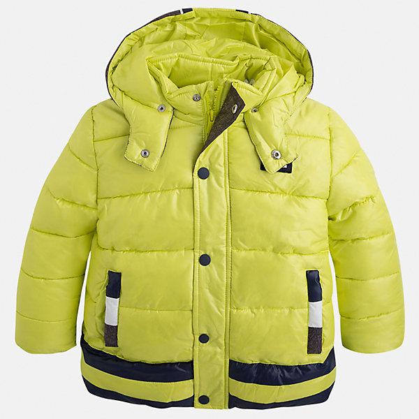 Куртка для мальчика MayoralДемисезонные куртки<br>Стильная, теплая осенняя куртка для юного джентльмена!<br>Порадуйте своего ребенка хорошим подарком!<br><br>Дополнительная информация:<br><br>- Крой: прямой крой, удлиненная модель.<br>- Страна бренда: Испания.<br>- Состав: <br>Верхняя ткань: полиэстер 100%.<br>Подкладка: полиэстер 100%.<br>Наполнитель: полиэстер 100%.<br>- Цвет: лимонный.<br>- Уход: бережная стирка при 30 градусах.<br><br>Купить куртку для мальчика Mayoral можно в нашем магазине.<br><br>Ширина мм: 356<br>Глубина мм: 10<br>Высота мм: 245<br>Вес г: 519<br>Цвет: желтый<br>Возраст от месяцев: 108<br>Возраст до месяцев: 120<br>Пол: Мужской<br>Возраст: Детский<br>Размер: 134,110,116,122,128,98,104<br>SKU: 4821961