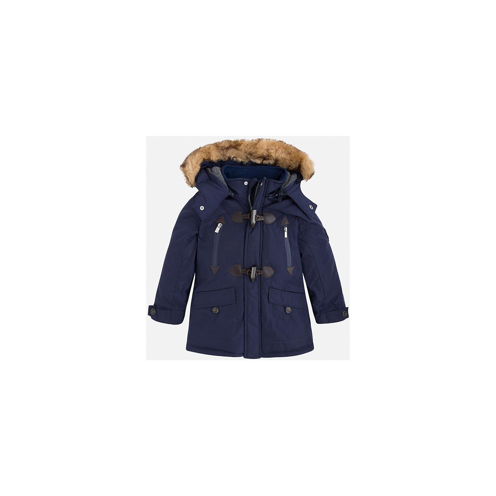 Жакет для мальчика MayoralВерхняя одежда<br>Скоро осень, а значит Вашему малышу  понадобиться что-нибудь теплое. Значит, Вам прекрасно подойдет яркая, а главное, теплая куртка Mayoral!<br>Порадуйте своего модника хорошим подарком!<br><br>Дополнительная информация:<br><br>- Крой: прямой крой, расклешенный к низу.<br>- Страна бренда: Испания.<br>- Состав: <br>Верхняя ткань: полиэстер 100%.<br>Подкладка: полиэстер 100%.<br>Наполнитель: полиэстер 100%.<br>- Цвет: темно-синий.<br>- Уход: бережная стирка при 30 градусах.<br><br>Купить куртку для мальчика Mayoral можно в нашем магазине.<br><br>Ширина мм: 190<br>Глубина мм: 74<br>Высота мм: 229<br>Вес г: 236<br>Цвет: синий<br>Возраст от месяцев: 24<br>Возраст до месяцев: 36<br>Пол: Мужской<br>Возраст: Детский<br>Размер: 110,122,128,134,116,104,98<br>SKU: 4821993