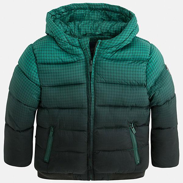 Куртка для мальчика MayoralДемисезонные куртки<br>Стильная, теплая осенняя куртка для юного джентльмена!<br>Порадуйте своего модника хорошим подарком!<br><br>Дополнительная информация:<br><br>- Крой: прямой крой.<br>- Страна бренда: Испания.<br>- Состав: <br>Верхняя ткань: полиэстер 100%.<br>Подкладка: полиэстер 100%.<br>Наполнитель: полиэстер 100%.<br>- Цвет: зеленый.<br>- Уход: бережная стирка при 30 градусах.<br><br>Купить куртку для мальчика Mayoral можно в нашем магазине.<br><br>Ширина мм: 356<br>Глубина мм: 10<br>Высота мм: 245<br>Вес г: 519<br>Цвет: белый<br>Возраст от месяцев: 24<br>Возраст до месяцев: 36<br>Пол: Мужской<br>Возраст: Детский<br>Размер: 98,134,128,116,110,104,122<br>SKU: 4822001