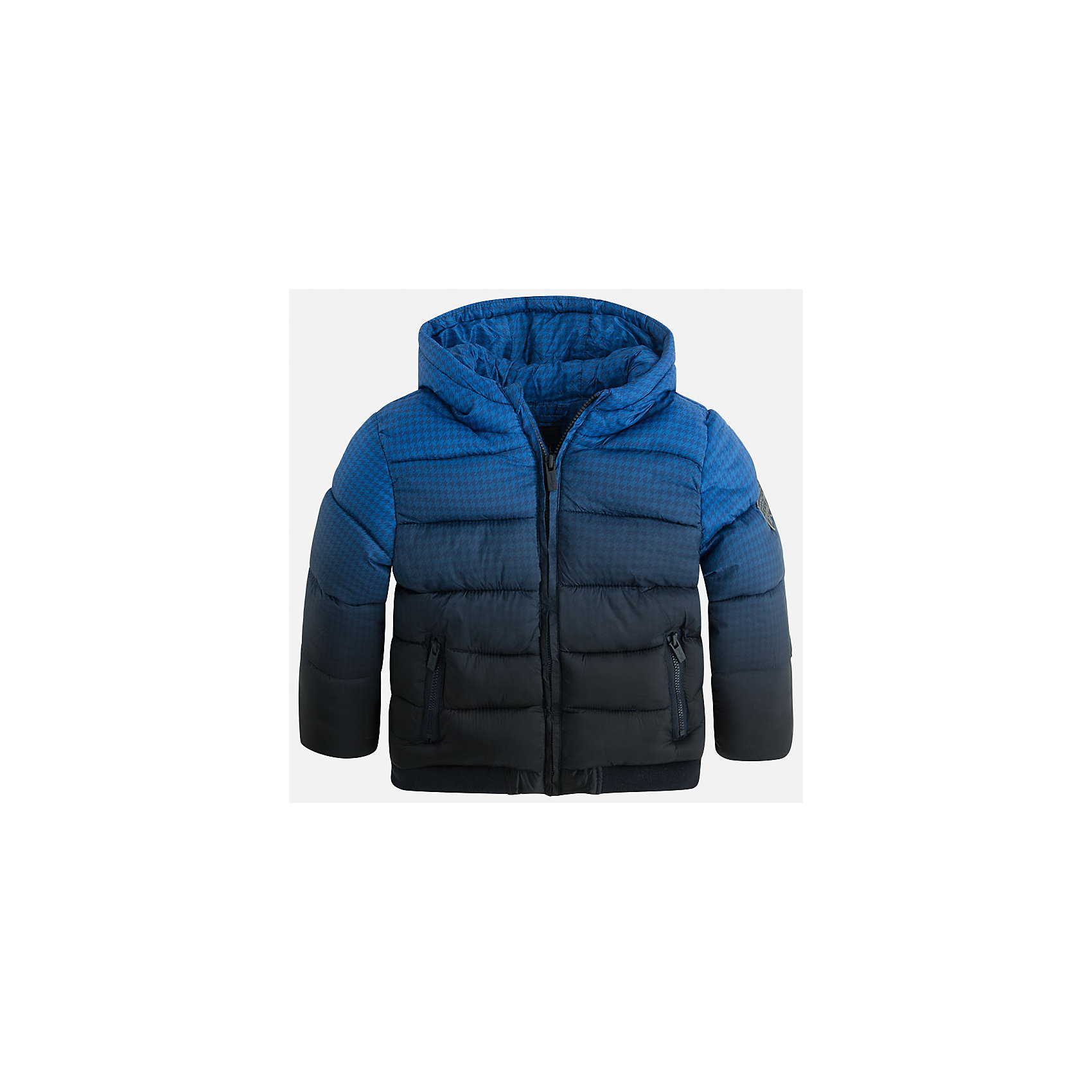 Куртка для мальчика MayoralСтильная, теплая осенняя куртка для юного джентльмена!<br>Порадуйте своего модника хорошим подарком!<br><br>Дополнительная информация:<br><br>- Крой: прямой крой.<br>- Страна бренда: Испания.<br>- Состав: <br>Верхняя ткань: полиэстер 100%.<br>Подкладка: полиэстер 100%.<br>Наполнитель: полиэстер 100%.<br>- Цвет: синий.<br>- Уход: бережная стирка при 30 градусах.<br><br>Купить куртку для мальчика Mayoral можно в нашем магазине.<br><br>Ширина мм: 356<br>Глубина мм: 10<br>Высота мм: 245<br>Вес г: 519<br>Цвет: синий<br>Возраст от месяцев: 96<br>Возраст до месяцев: 108<br>Пол: Мужской<br>Возраст: Детский<br>Размер: 128,110,116,122,134,98,104<br>SKU: 4822009
