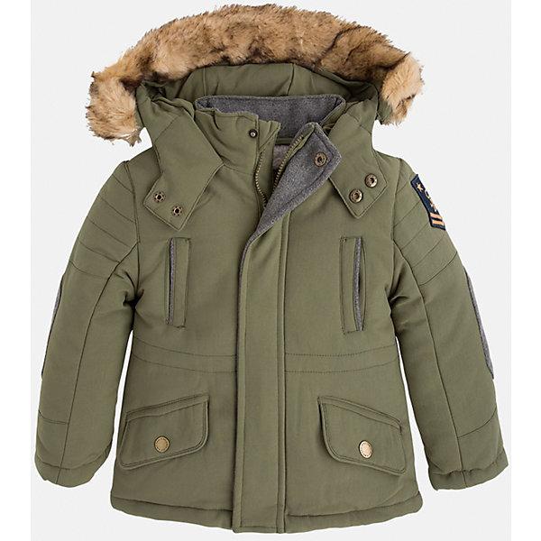 Куртка для мальчика MayoralВерхняя одежда<br>Стильная осенняя куртка для Вашего модника!<br>Куртка практична и удобна в носке. <br>Порадуйте своего юного модника таким чудесным подарком!<br><br>Дополнительная информация:<br><br>- Крой: прямой крой.<br>- Страна бренда: Испания.<br>- Состав: <br>Верхняя ткань: полиэстер 100%.<br>Подкладка: полиэстер 100%.<br>Наполнитель: полиэстер 100%.<br>- Цвет: защитный.<br>- Уход: бережная стирка при 30 градусах.<br><br>Купить куртку для мальчика Mayoral можно в нашем магазине.<br><br>Ширина мм: 356<br>Глубина мм: 10<br>Высота мм: 245<br>Вес г: 519<br>Цвет: хаки<br>Возраст от месяцев: 96<br>Возраст до месяцев: 108<br>Пол: Мужской<br>Возраст: Детский<br>Размер: 128,98,92,104,110,116,122,134<br>SKU: 4822026