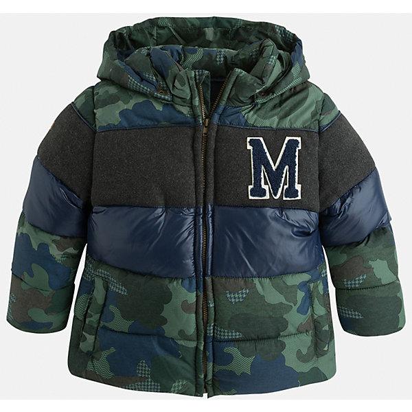 Куртка для мальчика MayoralДемисезонные куртки<br>Красивая, трехцветная куртка для настоящего мужчины!<br><br>Дополнительная информация:<br><br>- Крой: прямой крой.<br>- Страна бренда: Испания.<br>- Состав: <br>Верхняя ткань: полиэстер 100%.<br>Подкладка: полиэстер 100%.<br>Наполнитель: полиэстер 100%.<br>- Цвет: защитный.<br>- Уход: бережная стирка при 30 градусах.<br><br>Купить куртку для мальчика Mayoral можно в нашем магазине.<br>Ширина мм: 356; Глубина мм: 10; Высота мм: 245; Вес г: 519; Цвет: хаки; Возраст от месяцев: 108; Возраст до месяцев: 120; Пол: Мужской; Возраст: Детский; Размер: 134,104,98,128,122,116,110; SKU: 4822043;