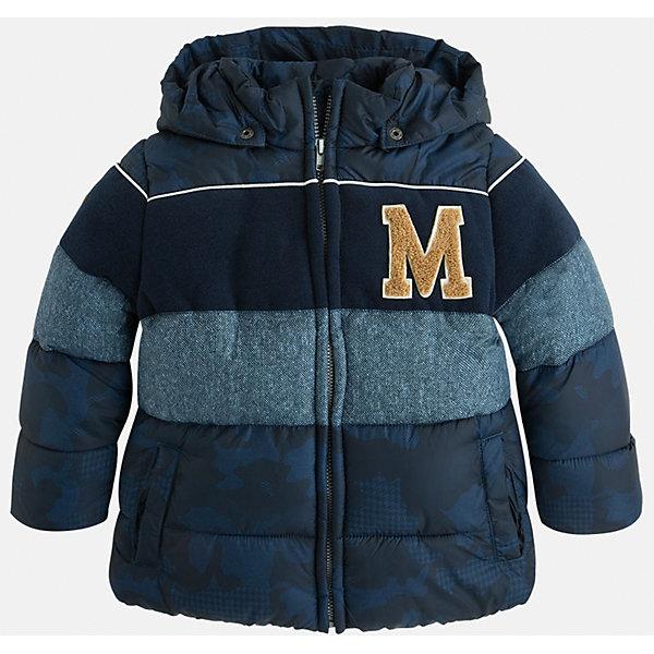 Куртка для мальчика MayoralДемисезонные куртки<br>Красивая, трехцветная куртка для настоящего мужчины!<br><br>Дополнительная информация:<br><br>- Крой: прямой крой.<br>- Страна бренда: Испания.<br>- Состав: <br>Верхняя ткань: полиэстер 100%.<br>Подкладка: полиэстер 100%.<br>Наполнитель: полиэстер 100%.<br>- Цвет: синий.<br>- Уход: бережная стирка при 30 градусах.<br><br>Купить куртку для мальчика Mayoral можно в нашем магазине.<br><br>Ширина мм: 356<br>Глубина мм: 10<br>Высота мм: 245<br>Вес г: 519<br>Цвет: синий<br>Возраст от месяцев: 72<br>Возраст до месяцев: 84<br>Пол: Мужской<br>Возраст: Детский<br>Размер: 116,128,122,134,98,104,110<br>SKU: 4822051