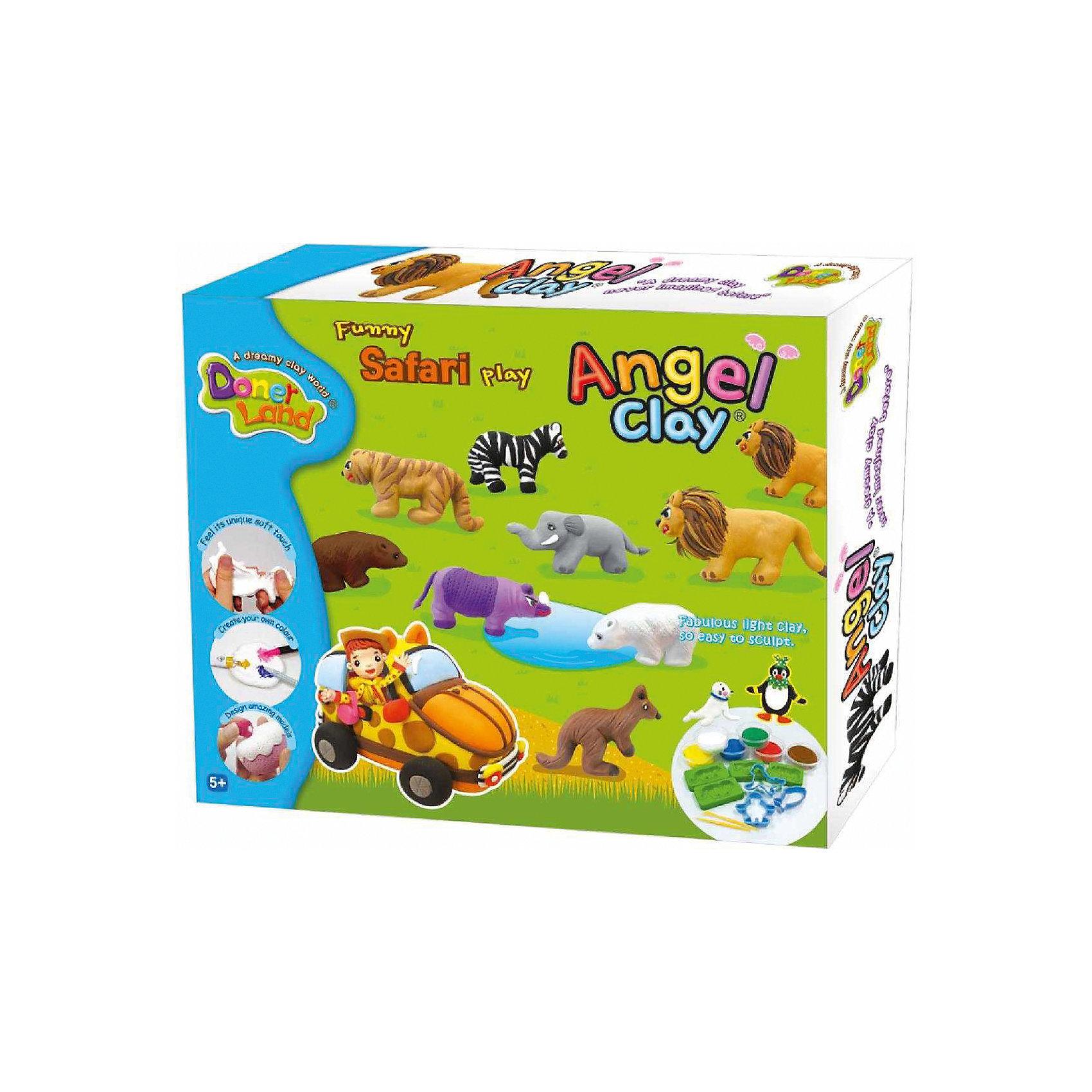 Angel Clay Игровой набор для лепки из глины Funny Safari, Angel Clay набор для лепки donerland angel clay funny safari aa14021