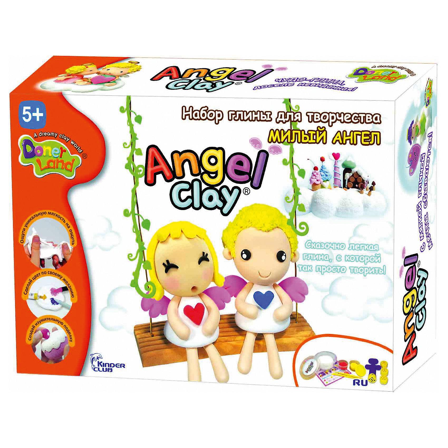 Angel Clay Игровой набор для лепки из глины Милый ангел, Angel Clay набор для лепки donerland angel clay funny safari aa14021