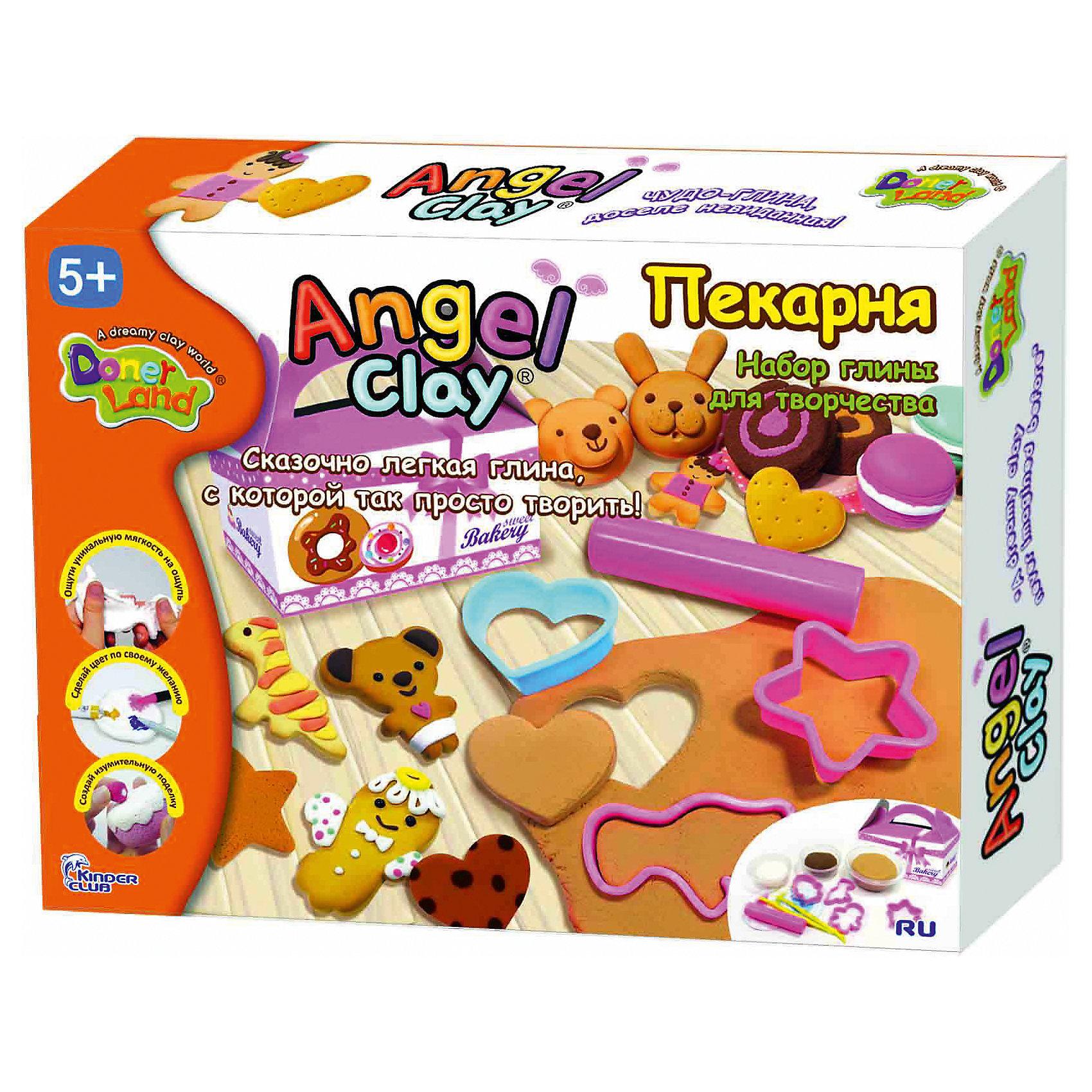 Angel Clay Игровой набор для лепки из глины  Пекарня, Angel Clay набор для лепки donerland angel clay funny safari aa14021