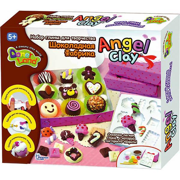 Игровой набор для лепки из глины  Sweet  Chocolat, Angel ClayНаборы полимерной глины<br>Очень мягкая и легкая глина для лепки. Она прекрасно лепится, быстро принимает любую текстуру и хорошо окрашивается в любой цвет.<br>А если смочить глину водой и подождать пару часов, она снова будет готова к использованию!<br>С таким набор Ваш ребенок сможет лепить и придумывать разных зверюшек сколько ему захочется!<br><br>В наборе:<br>- Ангельская глина 1 баночка 30г (шоколадный цвет).<br>- Ангельская глина 1 баночка 12г (белый цвет).<br>- Ангельская глина 3 баночки по 4г (красный/желтый/розовый).<br>- Шпатели.<br>- Формочки.<br>- Коробки для конфет из картона.<br>- Пластиковые элементы для украшения.<br>- Инструкция.<br><br>Дополнительная информация:<br><br>- Возраст: от 5 лет.<br>- Размер упаковки: 30х26,5х6 см.<br>- Вес в упаковке: 400 г.<br><br>Купить игровой набор для лепки из глины Sweet  Chocolat от Angel Clay, можно в нашем магазине.<br><br>Ширина мм: 300<br>Глубина мм: 265<br>Высота мм: 60<br>Вес г: 400<br>Возраст от месяцев: 60<br>Возраст до месяцев: 96<br>Пол: Женский<br>Возраст: Детский<br>SKU: 4823371