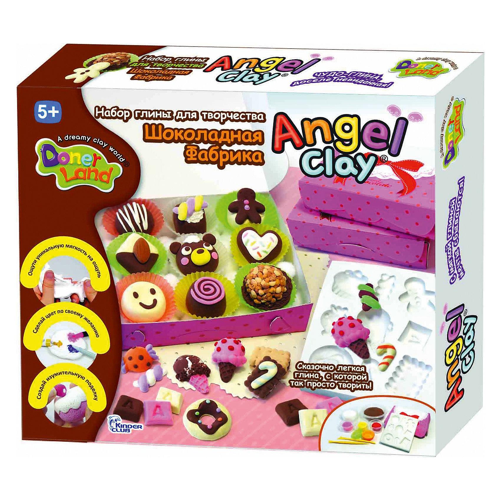 Angel Clay Игровой набор для лепки из глины  Sweet  Chocolat, Angel Clay набор для лепки donerland angel clay funny safari aa14021