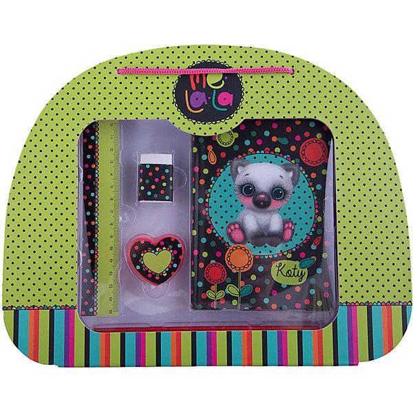 Подарочный набор письменных принадлежностей Котик Koty,  MelalaАксессуары для творчества<br>Замечательный набор для заметок прекрасно подойдет для Вашей девочки!<br>В наборе тетрадь в твердой обложке, линейка, 2 карандаша, ластик.<br>Порадуйте свою малышку таким милым подарком!<br><br>В наборе: <br>- Тетрадь в твердой обложке.<br>- Линейка.<br>- 2 карандаша.<br>- Ластик.<br><br>Дополнительная информация:<br><br>- Возраст: от 3 лет.<br>- Размер упаковки: 31,5х25,5х3,5 см.<br>- Вес в упаковке: 155 г.<br><br>Купить подарочный набор письменных принадлежностей Котик Koty от  Melala можно в нашем магазине.<br><br>Ширина мм: 315<br>Глубина мм: 255<br>Высота мм: 35<br>Вес г: 155<br>Возраст от месяцев: 36<br>Возраст до месяцев: 108<br>Пол: Женский<br>Возраст: Детский<br>SKU: 4823388