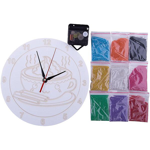 Набор для создания часов из песка КапучинкаКартины из песка<br>С помощью песочных часов легко и играючи можно научить ребенка правильно определять время! Веселая форма создаст впечатление непринужденности, а рисование песком добавит развивающий элемент. <br><br>В наборе: <br>- Циферблат-трафарет (трехслойная пластиковая основа с вырезанным лазером контуром рисунка d=25 см).<br>- Часовой механизм.<br>- 9 цветов песка в плотных пакетах с замком по 60 грамм.<br>- Фото-инструкция с иллюстрациями.<br><br>Дополнительная информация:<br><br>- Возраст: с 7 лет.<br>- Размер упаковки: 29х27х 0,1 см.<br>- Вес в упаковке: 300 г.<br><br>Купить набор для создания часов из песка Капучинка  можно в нашем магазине.<br>Ширина мм: 290; Глубина мм: 270; Высота мм: 0; Вес г: 300; Возраст от месяцев: 84; Возраст до месяцев: 144; Пол: Унисекс; Возраст: Детский; SKU: 4823394;