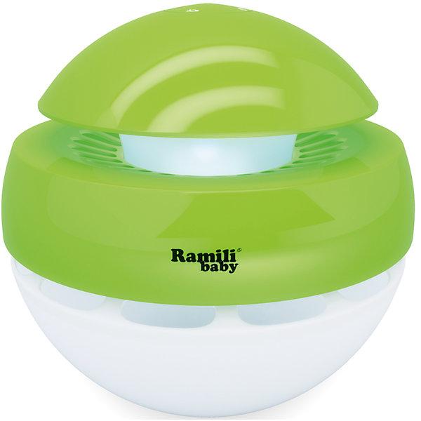 Ультразвуковой увлажнитель воздуха для детскойAH770, RamiliBabyУвлажнители воздуха для детской комнаты<br>Ультразвуковой увлажнитель (без кипячения). Создаёт «Холодный туман» за секунды. Рассчитан для увлажнения комнаты до 30 квадратных метров (в закрытом помещении). Объём контейнера для воды – 1 литр. Не требуются фильтры. Компактный. Ночничок. Возможность задать время работы: 1, 2 или 4 часа. Возможность работы с интервалами в 30 секунд, что вдвое увеличивает продолжительность увлажнения - до 8 часов. Автоматическое выключение, если вода в увлажнителе закончилась. Визуальное оповещение о расходе воды. Низкое потребление энергии<br><br>Ширина мм: 220<br>Глубина мм: 220<br>Высота мм: 220<br>Вес г: 700<br>Возраст от месяцев: 0<br>Возраст до месяцев: 3<br>Пол: Унисекс<br>Возраст: Детский<br>SKU: 4826118