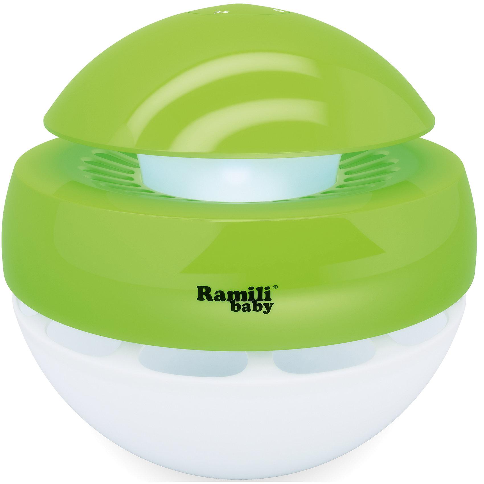 Ультразвуковой увлажнитель воздуха для детскойAH770, RamiliBabyДетская бытовая техника<br>Ультразвуковой увлажнитель (без кипячения). Создаёт «Холодный туман» за секунды. Рассчитан для увлажнения комнаты до 30 квадратных метров (в закрытом помещении). Объём контейнера для воды – 1 литр. Не требуются фильтры. Компактный. Ночничок. Возможность задать время работы: 1, 2 или 4 часа. Возможность работы с интервалами в 30 секунд, что вдвое увеличивает продолжительность увлажнения - до 8 часов. Автоматическое выключение, если вода в увлажнителе закончилась. Визуальное оповещение о расходе воды. Низкое потребление энергии<br><br>Ширина мм: 220<br>Глубина мм: 220<br>Высота мм: 220<br>Вес г: 700<br>Возраст от месяцев: 0<br>Возраст до месяцев: 3<br>Пол: Унисекс<br>Возраст: Детский<br>SKU: 4826118