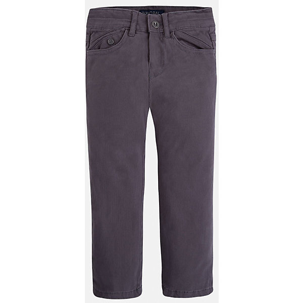 Брюки для мальчика MayoralБрюки<br>Универсальные всегда должны быть в гардеробе юного мужчины!<br>У брюк классическая посадка и прямой крой, так же они долговечны и очень удобны в носке.<br><br>Дополнительная информация:<br><br>- Крой: прямой крой.<br>- Страна бренда: Испания.<br>- Состав: хлопок 97%, эластан 3%.<br>- Уход: бережная стирка при 30 градусах.<br><br>Купить брюки для мальчика Mayoral можно в нашем магазине.<br><br>Ширина мм: 215<br>Глубина мм: 88<br>Высота мм: 191<br>Вес г: 336<br>Цвет: серый<br>Возраст от месяцев: 24<br>Возраст до месяцев: 36<br>Пол: Мужской<br>Возраст: Детский<br>Размер: 98,116,134,122,128,110,104<br>SKU: 4826421