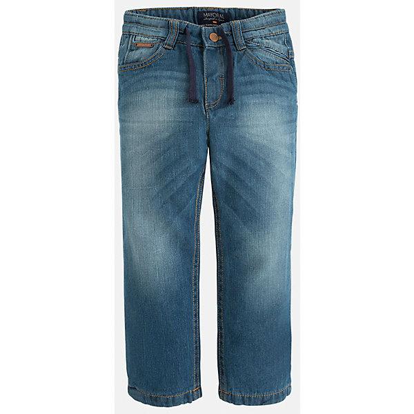 Джинсы для мальчика MayoralДжинсовая одежда<br>Универсальные джинсы всегда должны быть в гардеробе юного мужчины!<br><br>Дополнительная информация:<br><br>- Крой: свободный крой.<br>- Страна бренда: Испания.<br>- Состав: хлопок 100%.<br>- Подкладка: хлопок 100%.<br>- Цвет: деним.<br>- Уход: бережная стирка при 30 градусах.<br><br>Купить джинсы для мальчика Mayoral можно в нашем магазине.<br><br>Ширина мм: 215<br>Глубина мм: 88<br>Высота мм: 191<br>Вес г: 336<br>Цвет: синий<br>Возраст от месяцев: 36<br>Возраст до месяцев: 48<br>Пол: Мужской<br>Возраст: Детский<br>Размер: 104,110,134,128,116,122,98,92<br>SKU: 4826429
