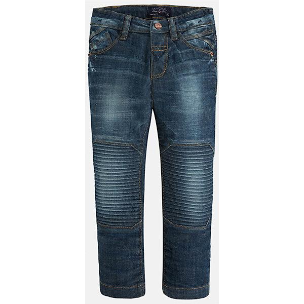 Джинсы для мальчика MayoralДжинсовая одежда<br>Стильные джинсы с специальной вставкой на коленях сразу понравятся Вашему ребенку!<br><br>Дополнительная информация:<br><br>- Крой: прямой крой, слегка заужены к низу.<br>- Страна бренда: Испания.<br>- Состав: хлопок 98%, эластан 2%.<br>- Цвет: синий.<br>- Уход: бережная стирка при 30 градусах.<br><br>Купить брюки для мальчика Mayoral можно в нашем магазине.<br><br>Ширина мм: 215<br>Глубина мм: 88<br>Высота мм: 191<br>Вес г: 336<br>Цвет: синий<br>Возраст от месяцев: 36<br>Возраст до месяцев: 48<br>Пол: Мужской<br>Возраст: Детский<br>Размер: 104,122,116,110,98,134,128<br>SKU: 4826456