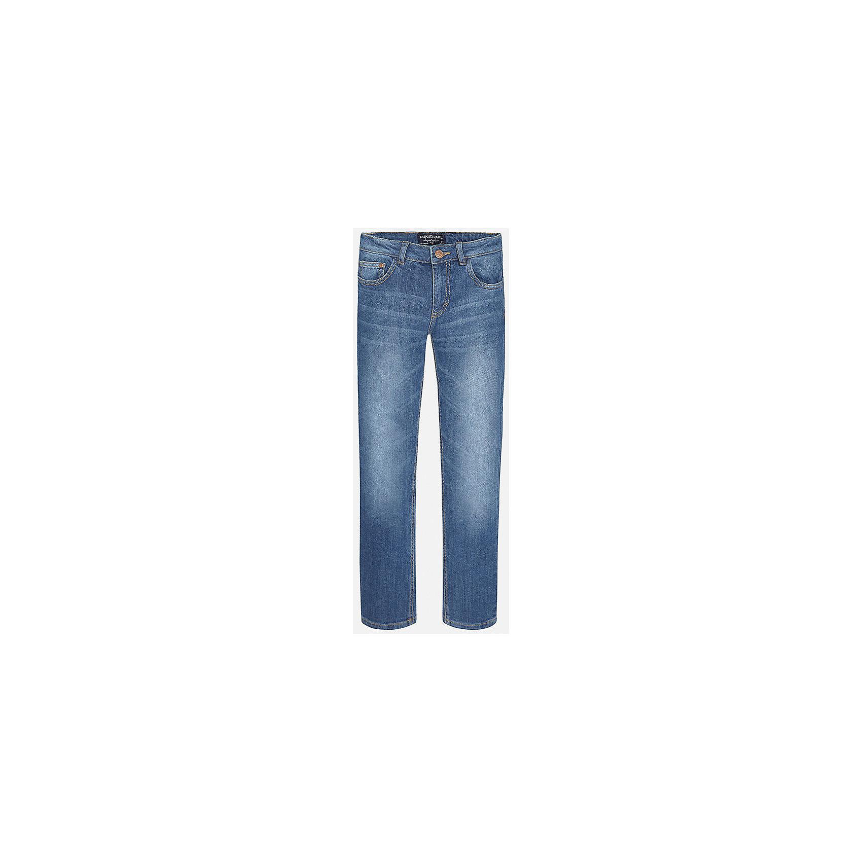 Брюки для мальчика MayoralХорошие, качественные джинсы - это необходимый атрибут в гардеробе каждого человека!<br><br>Дополнительная информация:<br><br>- Крой: классический крой (Regular fit).<br>- Страна бренда: Испания.<br>- Состав: хлопок 98%, эластан 2%.<br>- Цвет: синий.<br>- Уход: бережная стирка при 30 градусах.<br><br>Купить брюки для мальчика Mayoral можно в нашем магазине.<br><br>Ширина мм: 215<br>Глубина мм: 88<br>Высота мм: 191<br>Вес г: 336<br>Цвет: синий<br>Возраст от месяцев: 144<br>Возраст до месяцев: 156<br>Пол: Мужской<br>Возраст: Детский<br>Размер: 152/158,146/152,140/146,164/170,128/134,158/164<br>SKU: 4826596