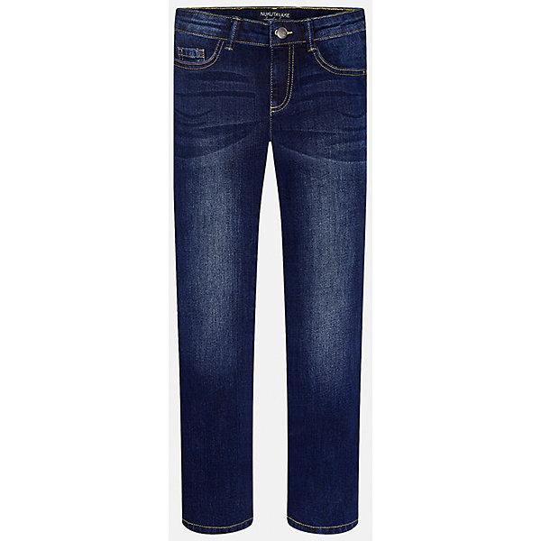 Брюки для мальчика MayoralДжинсы<br>Хорошие, качественные джинсы - это необходимый атрибут в гардеробе каждого человека!<br><br>Дополнительная информация:<br><br>- Крой: классический крой (Regular fit).<br>- Страна бренда: Испания.<br>- Состав: хлопок 98%, эластан 2%.<br>- Цвет: темно-синий.<br>- Уход: бережная стирка при 30 градусах.<br><br>Купить брюки для мальчика Mayoral можно в нашем магазине.<br><br>Ширина мм: 215<br>Глубина мм: 88<br>Высота мм: 191<br>Вес г: 336<br>Цвет: синий<br>Возраст от месяцев: 168<br>Возраст до месяцев: 180<br>Пол: Мужской<br>Возраст: Детский<br>Размер: 170,128/134,164,152,158,140<br>SKU: 4826603