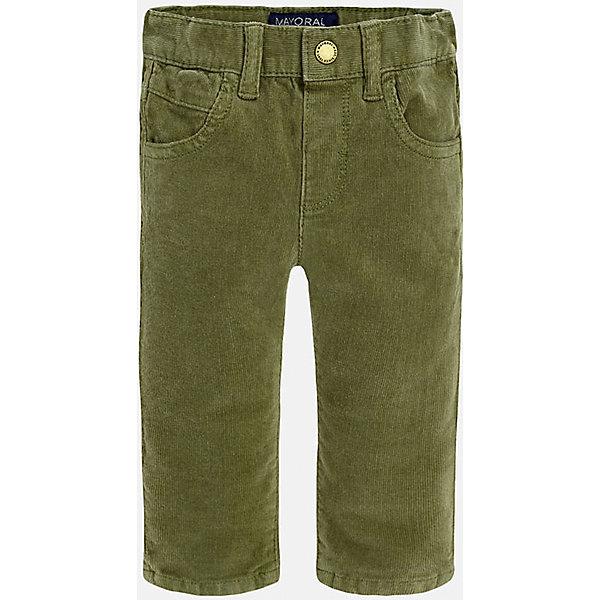 Брюки для мальчика MayoralДжинсы и брючки<br>Укороченные вельветовые брюки с зауженным кроем.<br><br>Дополнительная информация:<br><br>- Крой: зауженный крой (Slim Fit).<br>- Страна бренда: Испания.<br>- Состав: хлопок 98%, эластан 2%.<br>- Цвет: защитный.<br>- Уход: бережная стирка при 30 градусах.<br><br>Купить брюки для мальчика Mayoral можно в нашем магазине.<br><br>Ширина мм: 215<br>Глубина мм: 88<br>Высота мм: 191<br>Вес г: 336<br>Цвет: хаки<br>Возраст от месяцев: 6<br>Возраст до месяцев: 9<br>Пол: Мужской<br>Возраст: Детский<br>Размер: 74,92,86,80<br>SKU: 4826610