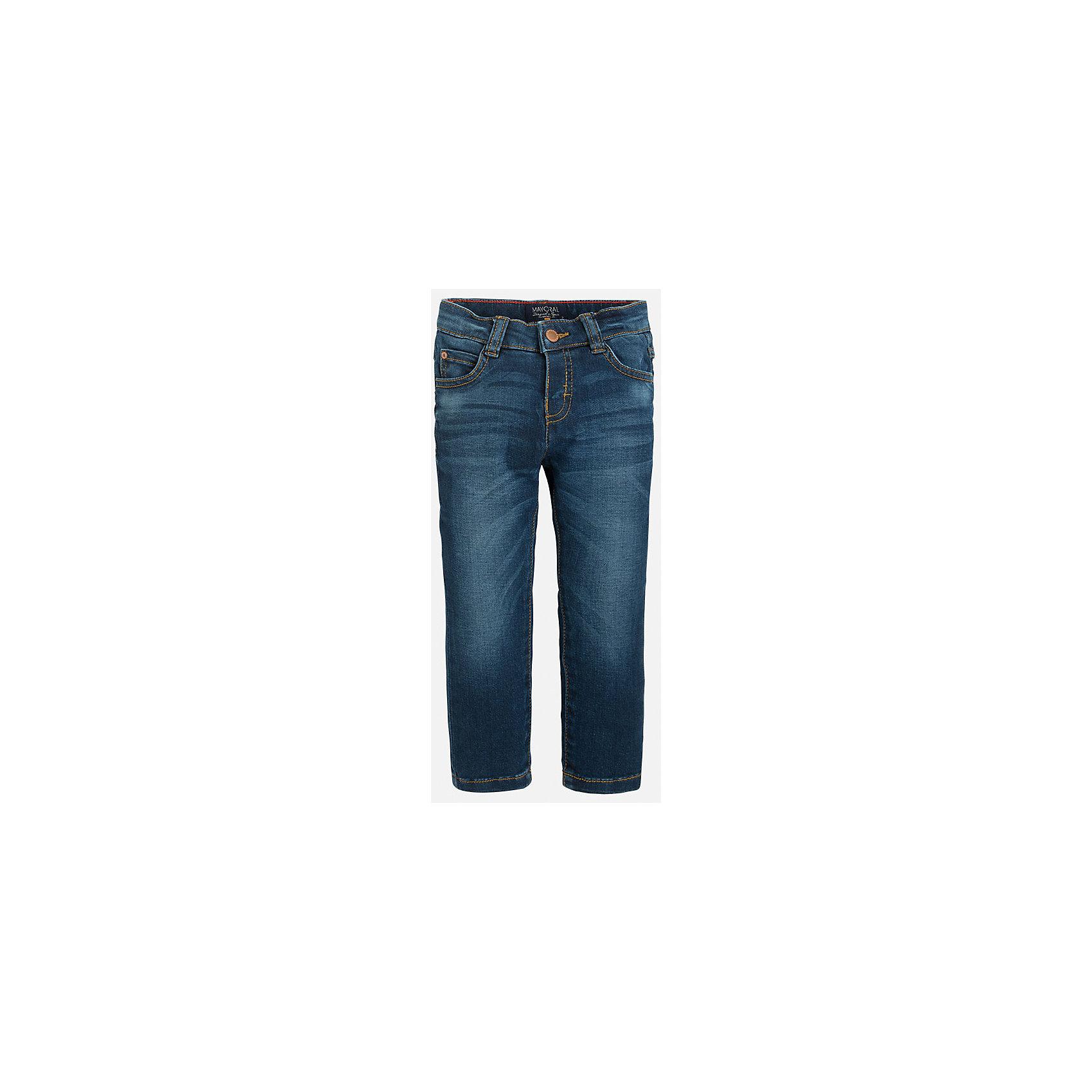 Джинсы для мальчика MayoralДжинсы<br>Хорошие, качественные джинсы - это необходимый атрибут в гардеробе каждого человека!<br><br>Дополнительная информация:<br><br>- Крой: зауженный крой (Slim fit).<br>- Страна бренда: Испания.<br>- Состав: хлопок 99%, эластан 1%.<br>- Цвет: темно-синий.<br>- Уход: бережная стирка при 30 градусах.<br><br>Купить брюки для мальчика Mayoral можно в нашем магазине.<br><br>Ширина мм: 215<br>Глубина мм: 88<br>Высота мм: 191<br>Вес г: 336<br>Цвет: синий<br>Возраст от месяцев: 24<br>Возраст до месяцев: 36<br>Пол: Мужской<br>Возраст: Детский<br>Размер: 98,122,104,110,116,134,128<br>SKU: 4826615