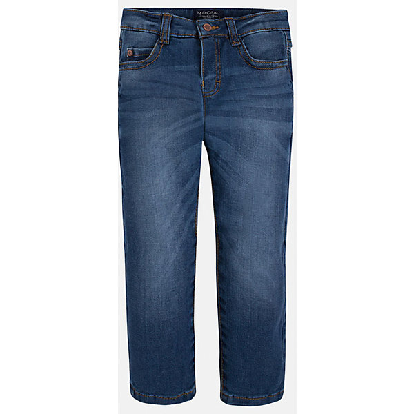 Джинсы для мальчика MayoralДжинсы<br>Хорошие, качественные джинсы - это необходимый атрибут в гардеробе каждого человека!<br><br>Дополнительная информация:<br><br>- Крой: зауженный крой (Slim fit).<br>- Страна бренда: Испания.<br>- Состав: хлопок 99%, эластан 1%.<br>- Цвет: синий.<br>- Уход: бережная стирка при 30 градусах.<br><br>Купить брюки для мальчика Mayoral можно в нашем магазине.<br><br>Ширина мм: 215<br>Глубина мм: 88<br>Высота мм: 191<br>Вес г: 336<br>Цвет: синий<br>Возраст от месяцев: 24<br>Возраст до месяцев: 36<br>Пол: Мужской<br>Возраст: Детский<br>Размер: 98,104,134,128,116,122,110<br>SKU: 4826623