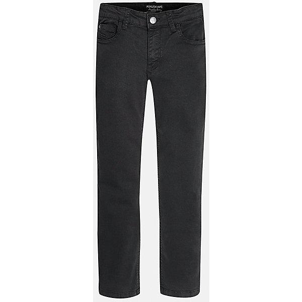 Брюки для мальчика MayoralДжинсы<br>Хорошие, качественные джинсы - это необходимый атрибут в гардеробе каждого человека!<br><br>Дополнительная информация:<br><br>- Крой: классический крой (Regular fit).<br>- Страна бренда: Испания.<br>- Состав: хлопок 98%, эластан 2%.<br>- Цвет: темно-серый.<br>- Уход: бережная стирка при 30 градусах.<br><br>Купить брюки для мальчика Mayoral можно в нашем магазине.<br>Ширина мм: 215; Глубина мм: 88; Высота мм: 191; Вес г: 336; Цвет: серый; Возраст от месяцев: 144; Возраст до месяцев: 156; Пол: Мужской; Возраст: Детский; Размер: 152/158,164/170,158/164,146/152,140/146,128/134; SKU: 4826631;