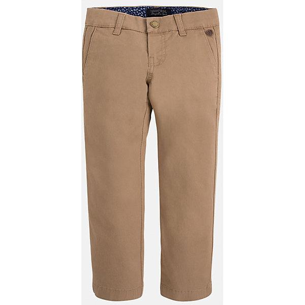 Брюки для мальчика MayoralБрюки<br>Хорошие, качественные брюки - это необходимый атрибут в гардеробе каждого человека!<br><br>Дополнительная информация:<br><br>- Крой: классический крой (Regular fit).<br>- Страна бренда: Испания.<br>- Состав: хлопок 98%, эластан 2%.<br>- Цвет: вишневый.<br>- Уход: бережная стирка при 30 градусах.<br><br>Купить брюки для мальчика Mayoral можно в нашем магазине.<br><br>Ширина мм: 215<br>Глубина мм: 88<br>Высота мм: 191<br>Вес г: 336<br>Цвет: бежевый<br>Возраст от месяцев: 24<br>Возраст до месяцев: 36<br>Пол: Мужской<br>Возраст: Детский<br>Размер: 98,104,128,134,110,116,122<br>SKU: 4826663