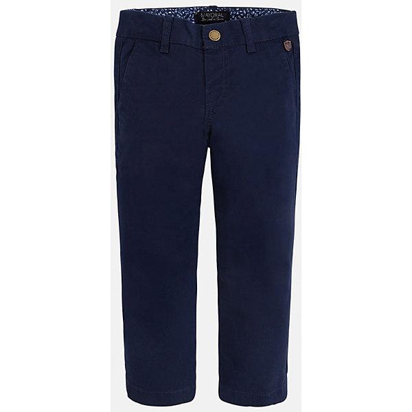 Брюки для мальчика MayoralБрюки<br>Хорошие, качественные брюки - это необходимый атрибут в гардеробе каждого человека!<br><br>Дополнительная информация:<br><br>- Крой: классический крой (Regular fit).<br>- Страна бренда: Испания.<br>- Состав: хлопок 98%, эластан 2%.<br>- Цвет: серый.<br>- Уход: бережная стирка при 30 градусах.<br><br>Купить брюки для мальчика Mayoral можно в нашем магазине.<br><br>Ширина мм: 215<br>Глубина мм: 88<br>Высота мм: 191<br>Вес г: 336<br>Цвет: синий<br>Возраст от месяцев: 24<br>Возраст до месяцев: 36<br>Пол: Мужской<br>Возраст: Детский<br>Размер: 98,128,116,110,104,122,134<br>SKU: 4826671