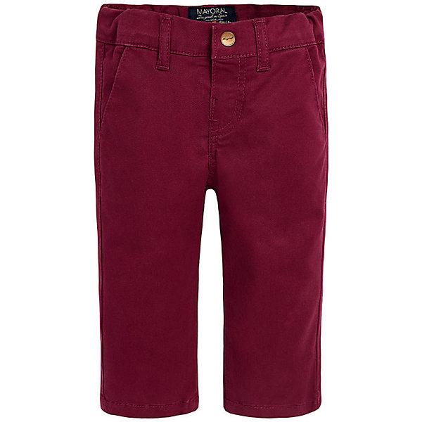 Брюки для мальчика MayoralБрюки<br>Удлиненные шорты зауженного кроя, отличный вариант для лета или теплой осени!<br><br>Дополнительная информация:<br><br>- Крой: зауженный крой (Slim fit).<br>- Страна бренда: Испания.<br>- Состав: хлопок 98%, эластан 2%.<br>- Цвет: вишневый.<br>- Уход: бережная стирка при 30 градусах.<br><br>Купить брюки для мальчика Mayoral можно в нашем магазине.<br>Ширина мм: 215; Глубина мм: 88; Высота мм: 191; Вес г: 336; Цвет: бордовый; Возраст от месяцев: 12; Возраст до месяцев: 15; Пол: Мужской; Возраст: Детский; Размер: 80,92,86; SKU: 4826679;