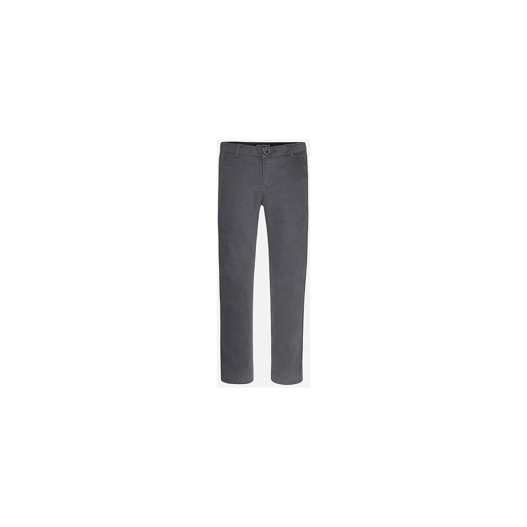 Брюки для мальчика MayoralХорошие, качественные брюки - это необходимый атрибут в гардеробе каждого человека!<br><br>Дополнительная информация:<br><br>- Крой: классический крой (Regular fit).<br>- Страна бренда: Испания.<br>- Состав: хлопок 97%, эластан 3%.<br>- Цвет: синий.<br>- Уход: бережная стирка при 30 градусах.<br><br>Купить брюки для мальчика Mayoral можно в нашем магазине.<br><br>Ширина мм: 215<br>Глубина мм: 88<br>Высота мм: 191<br>Вес г: 336<br>Цвет: серый<br>Возраст от месяцев: 168<br>Возраст до месяцев: 180<br>Пол: Мужской<br>Возраст: Детский<br>Размер: 164/170,140/146,128/134,146/152,152/158,158/164<br>SKU: 4826687