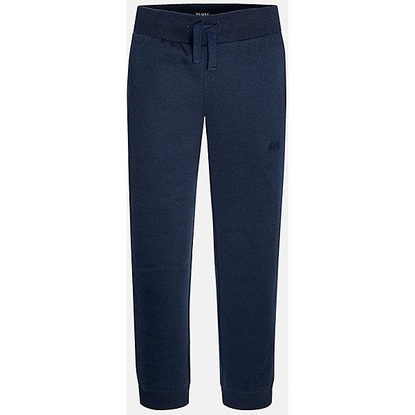 Брюки для мальчика MayoralБрюки<br>Очень удобные спортивные брюки для мальчика! У брюк зауженный крой, хорошая посадка, на талии регулируются специальной резинкой.<br><br>Дополнительная информация:<br><br>- Крой: зауженный крой.<br>- Страна бренда: Испания.<br>- Состав: хлопок 35%, полиэстер 65%.<br>- Цвет: темно-синий.<br>- Уход: бережная стирка при 30 градусах.<br><br>Купить брюки для мальчика Mayoral можно в нашем магазине.<br>Ширина мм: 215; Глубина мм: 88; Высота мм: 191; Вес г: 336; Цвет: синий; Возраст от месяцев: 144; Возраст до месяцев: 156; Пол: Мужской; Возраст: Детский; Размер: 152/158,158/164,164/170,128/134,140/146,146/152; SKU: 4826786;