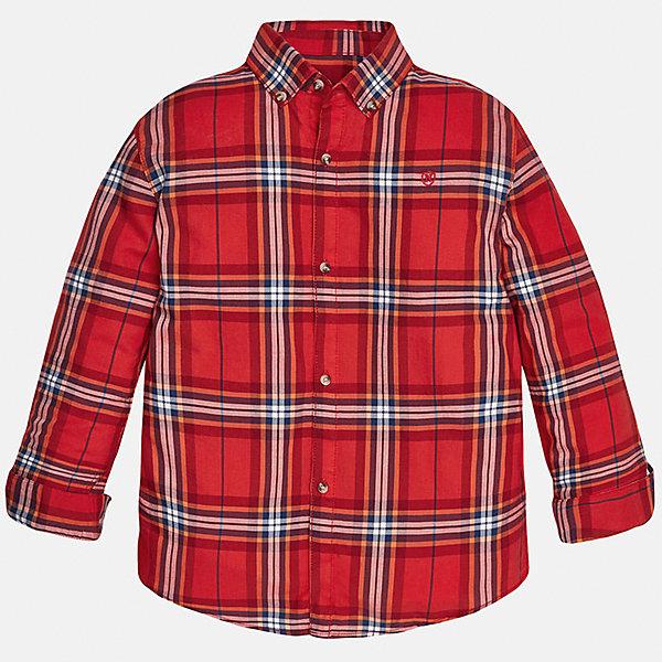 Рубашка для мальчика MayoralБлузки и рубашки<br>Рубашка для мальчика от популярного испанского бренда Mayoral(Майорал). Модель с длинным рукавом и прямым силуэтом, изготовлена из хлопка. Застегивается на пуговицы спереди. Клетчатая рубашка прекрасно сочетается с джинсами.<br><br>Дополнительная информация:<br>Состав: 100% хлопок<br>Цвет: красный<br>Вы можете купить рубашку Mayoral(Майорал) в нашем интернет-магазине.<br><br>Ширина мм: 174<br>Глубина мм: 10<br>Высота мм: 169<br>Вес г: 157<br>Цвет: коричневый<br>Возраст от месяцев: 144<br>Возраст до месяцев: 156<br>Пол: Мужской<br>Возраст: Детский<br>Размер: 152/158,128/134,164/170,158/164,146/152,140/146<br>SKU: 4826884