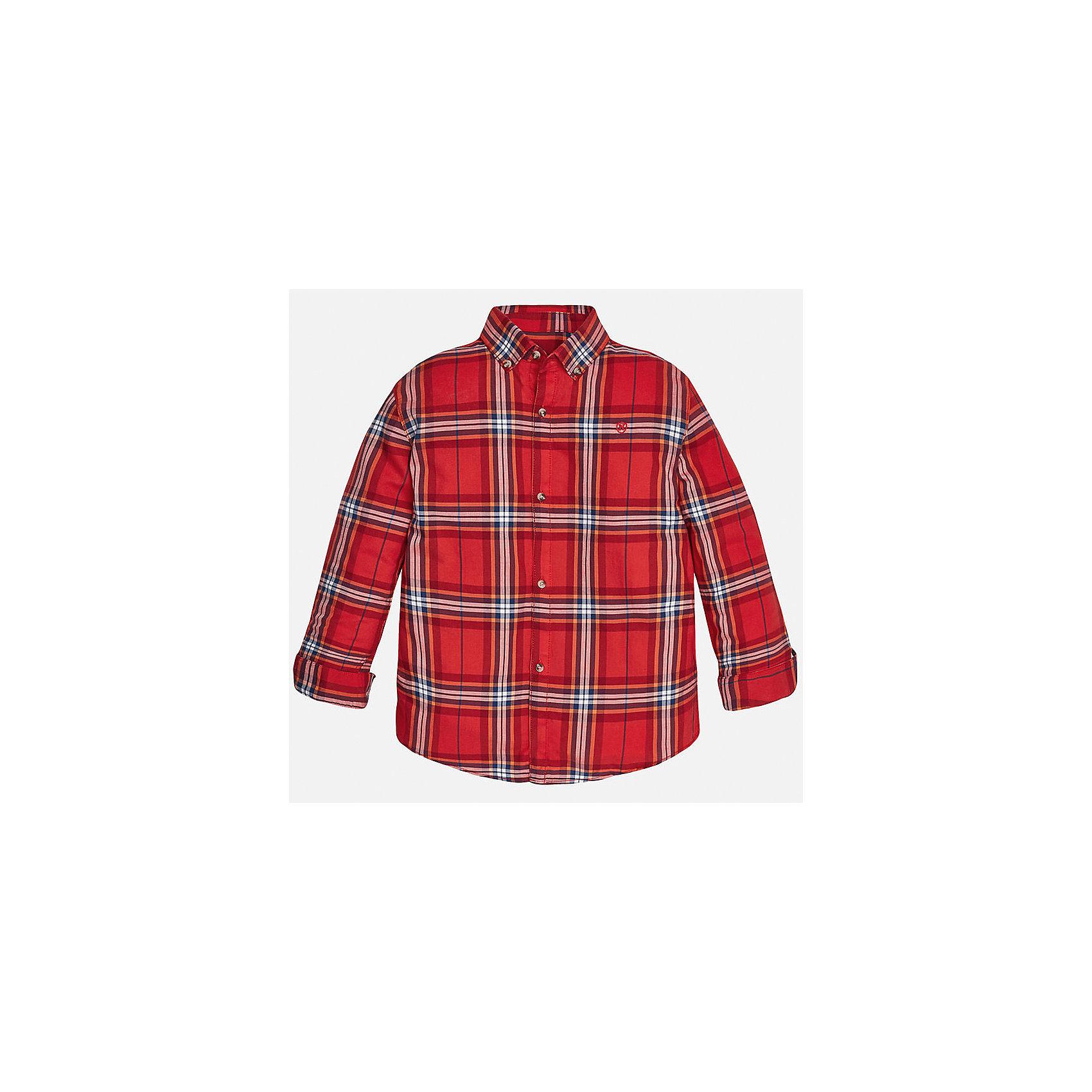 Рубашка для мальчика MayoralБлузки и рубашки<br>Рубашка для мальчика от популярного испанского бренда Mayoral(Майорал). Модель с длинным рукавом и прямым силуэтом, изготовлена из хлопка. Застегивается на пуговицы спереди. Клетчатая рубашка прекрасно сочетается с джинсами.<br><br>Дополнительная информация:<br>Состав: 100% хлопок<br>Цвет: красный<br>Вы можете купить рубашку Mayoral(Майорал) в нашем интернет-магазине.<br><br>Ширина мм: 174<br>Глубина мм: 10<br>Высота мм: 169<br>Вес г: 157<br>Цвет: коричневый<br>Возраст от месяцев: 144<br>Возраст до месяцев: 156<br>Пол: Мужской<br>Возраст: Детский<br>Размер: 152/158,146/152,140/146,128/134,164/170,158/164<br>SKU: 4826884