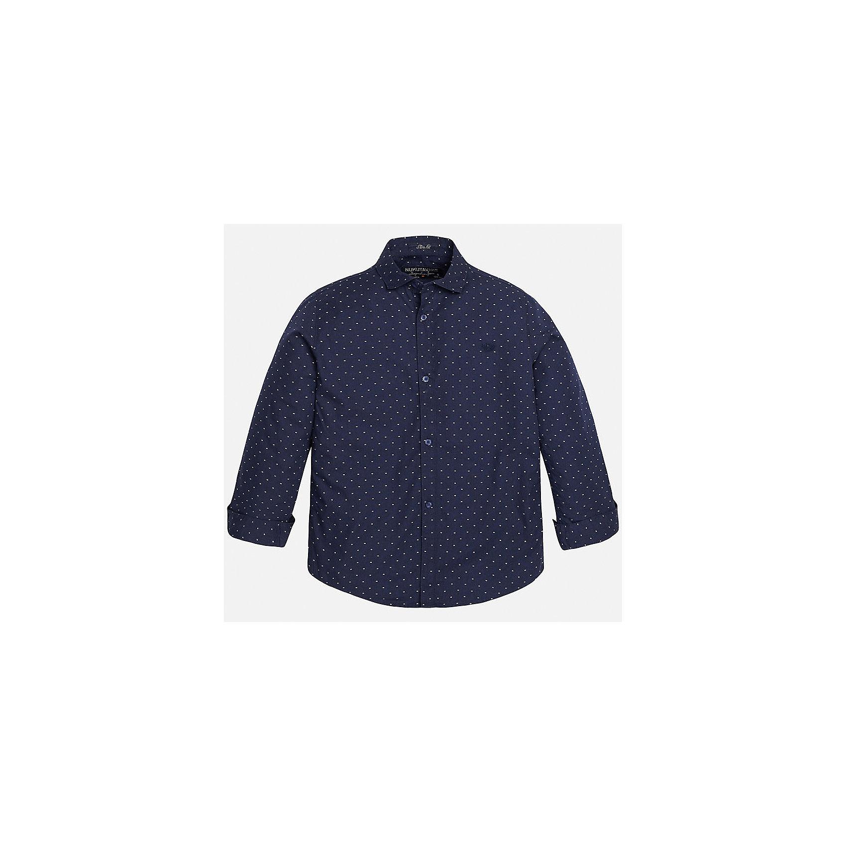 Рубашка для мальчика MayoralРубашка для мальчика из коллекции осень-зима 2016-2017 известного испанского бренда Mayoral (Майорал). Стильная и удобная рубашка на каждый день. Приятный темно-синий цвет рубашки прекрасно сочетается с белыми крапинками. Рубашка застегивается на пуговицы с дизайном и отлично подойдет как к брюкам, так и к джинсам кроме того, ее можно носить поверх футболки.<br><br>Дополнительная информация:<br><br>- Рукав: длинный<br>- Силуэт: слим-фит<br>Состав: 100% хлопок<br><br>Рубашку для мальчиков Mayoral (Майорал) можно купить в нашем интернет-магазине.<br><br>Подробнее:<br>• Для детей в возрасте: от 10 до 14 лет<br>• Номер товара: 4826899<br>Страна производитель: Индия<br><br>Ширина мм: 174<br>Глубина мм: 10<br>Высота мм: 169<br>Вес г: 157<br>Цвет: синий<br>Возраст от месяцев: 132<br>Возраст до месяцев: 144<br>Пол: Мужской<br>Возраст: Детский<br>Размер: 146/152,164/170,128/134,140/146,158/164,158/164<br>SKU: 4826898