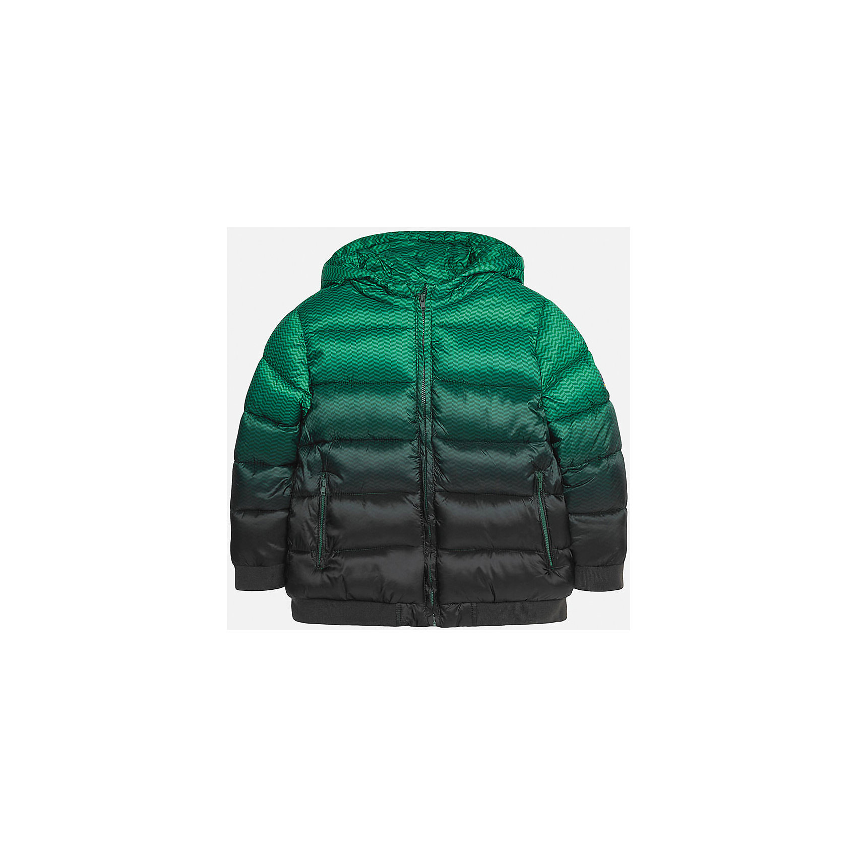 Куртка для мальчика MayoralКуртка для мальчика от популярного испанского бренда Mayoral(Майорал). Куртка водонепроницаемая, застегивается на молнию. Спереди есть 2 удобных кармана. Стильный дизайн с эффектом градиент понравится юному моднику!<br><br>Дополнительная информация:<br>Состав: 100% полиэстер<br>Цвет: зеленый/черный<br>Куртку Mayoral(Майорал) можно приобрести в нашем интернет-магазине.<br><br>Ширина мм: 356<br>Глубина мм: 10<br>Высота мм: 245<br>Вес г: 519<br>Цвет: разноцветный<br>Возраст от месяцев: 132<br>Возраст до месяцев: 144<br>Пол: Мужской<br>Возраст: Детский<br>Размер: 146/152,140/146,164/170,152/158,158/164,128/134<br>SKU: 4827113
