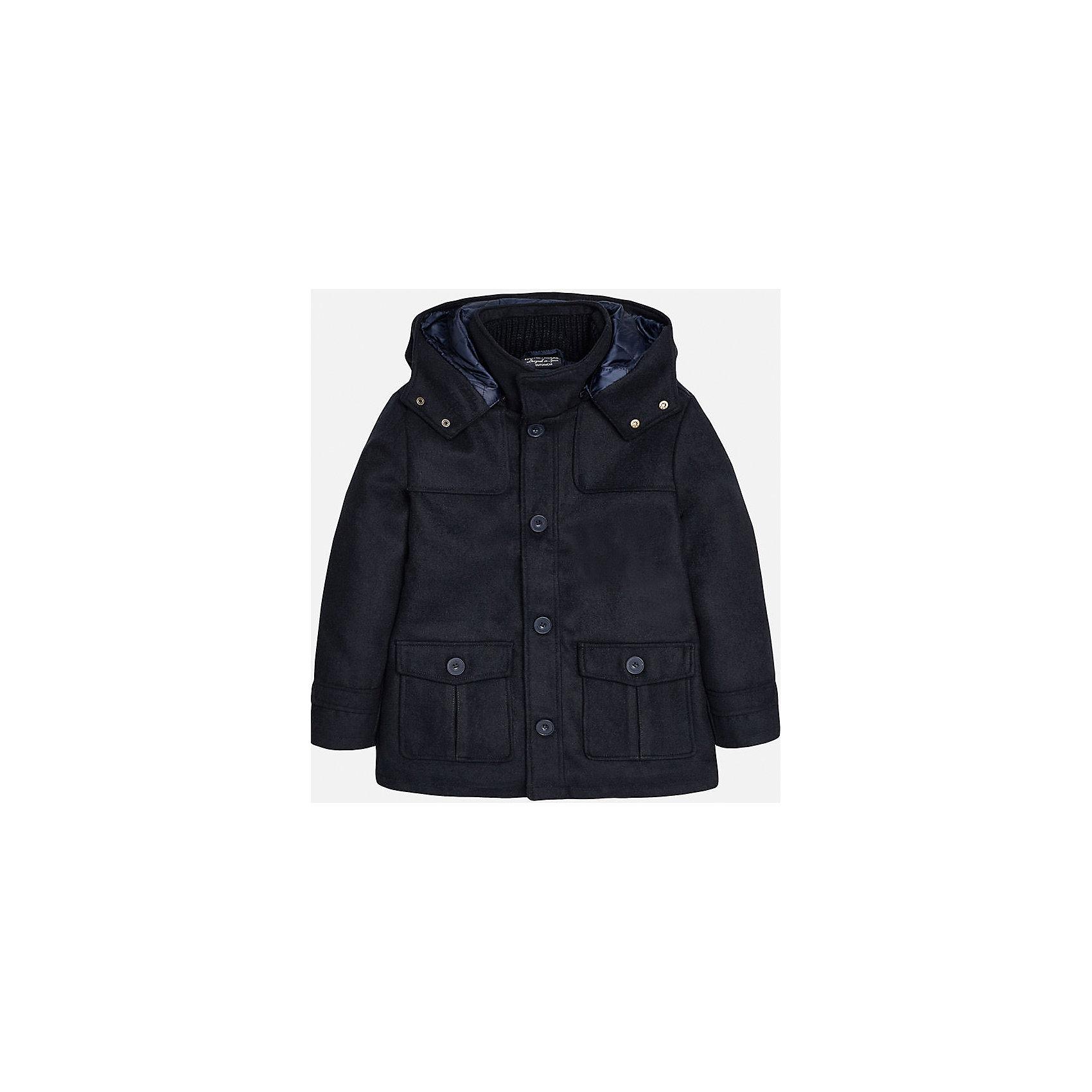 Куртка для мальчика MayoralВерхняя одежда<br>Куртка для мальчика из коллекции осень-зима 2016-2017 известного испанского бренда Mayoral (Майорал). Стильная и удобная куртка придет по вкусу вашему ребенку. Приятный антрацитовый цвет отлично сочетается с дизайном куртки. Куртка застегивается на молнию, а также имеет 4 пуговицы с дизайном бренда, имются два больших кармана.  Эта куртка отлично подойдет к брюкам, а также к джинсам или штанам спортивного стиля.<br><br>Дополнительная информация:<br><br>- Рукав: длинный<br>- Силуэт: расширяющийся к низу<br>Состав: полиэстер 46%, акрил 46%, полиамид 5%, шерсть 3%<br><br>Куртку для мальчиков Mayoral (Майорал) можно купить в нашем интернет-магазине.<br><br>Подробнее:<br>• Для детей в возрасте: от 10 до 16 лет<br>• Номер товара: 4827149<br>Страна производитель: Китай<br><br>Ширина мм: 356<br>Глубина мм: 10<br>Высота мм: 245<br>Вес г: 519<br>Цвет: синий<br>Возраст от месяцев: 96<br>Возраст до месяцев: 108<br>Пол: Мужской<br>Возраст: Детский<br>Размер: 128/134,146/152,140/146,152/158,158/164,164/170<br>SKU: 4827148
