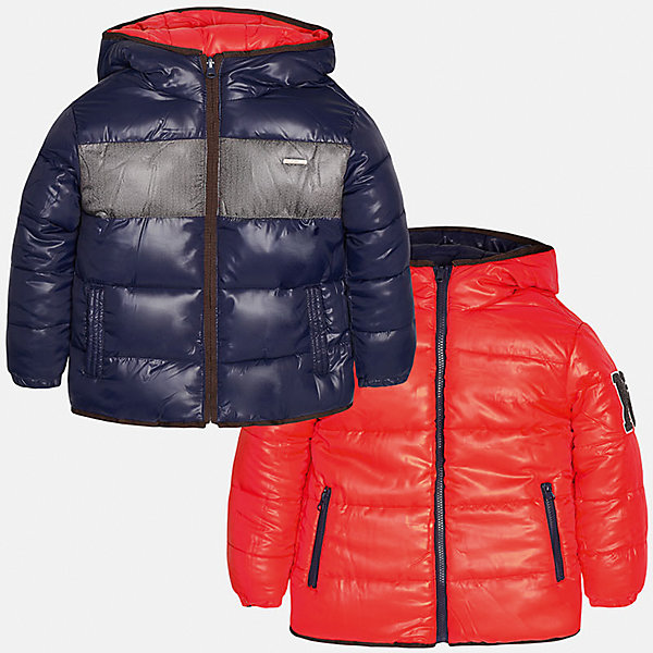 Куртка-трансформер для мальчика MayoralВерхняя одежда<br>Куртка-трансформер из полиэстера от Mayoral(Майорал). Модель застегивается на молнию, есть капюшон и карманы по бокам. Куртку можно надеть с двух сторон, это позволит вам выбрать нужный цвет к образу  ребенка. Прекрасный вариант для юных модников!<br><br>Дополнительная информация:<br>Состав: 100% полиэстер<br>Цвет: красный/синий<br>Куртку-трансформер Mayoral(Майорал) вы можете приобрести в нашем интернет-магазине.<br><br>Ширина мм: 356<br>Глубина мм: 10<br>Высота мм: 245<br>Вес г: 519<br>Цвет: коричневый<br>Возраст от месяцев: 132<br>Возраст до месяцев: 144<br>Пол: Мужской<br>Возраст: Детский<br>Размер: 146/152,128/134,164/170,158/164,152/158,140/146<br>SKU: 4827169