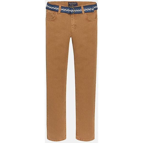Брюки для мальчика MayoralБрюки<br>Брюки для мальчика от популярного испанского бренда Mayoral(Майорал). Стильные брюки прямого кроя с ремешком на поясе. Есть по два кармана спереди и сзади. Прекрасное сочетания простоты и качества!<br><br>Дополнительная информация:<br>Состав: 98% хлопок, 2% эластан. Ремень: 100% полиэстер<br>Цвет: коричневый<br>Брюки для мальчика Mayoral(Майорал) вы можете приобрести в нашем интернет-магазине.<br>Ширина мм: 215; Глубина мм: 88; Высота мм: 191; Вес г: 336; Цвет: бежевый; Возраст от месяцев: 156; Возраст до месяцев: 168; Пол: Мужской; Возраст: Детский; Размер: 158/164,152/158,164/170,140/146,128/134,146/152; SKU: 4827176;