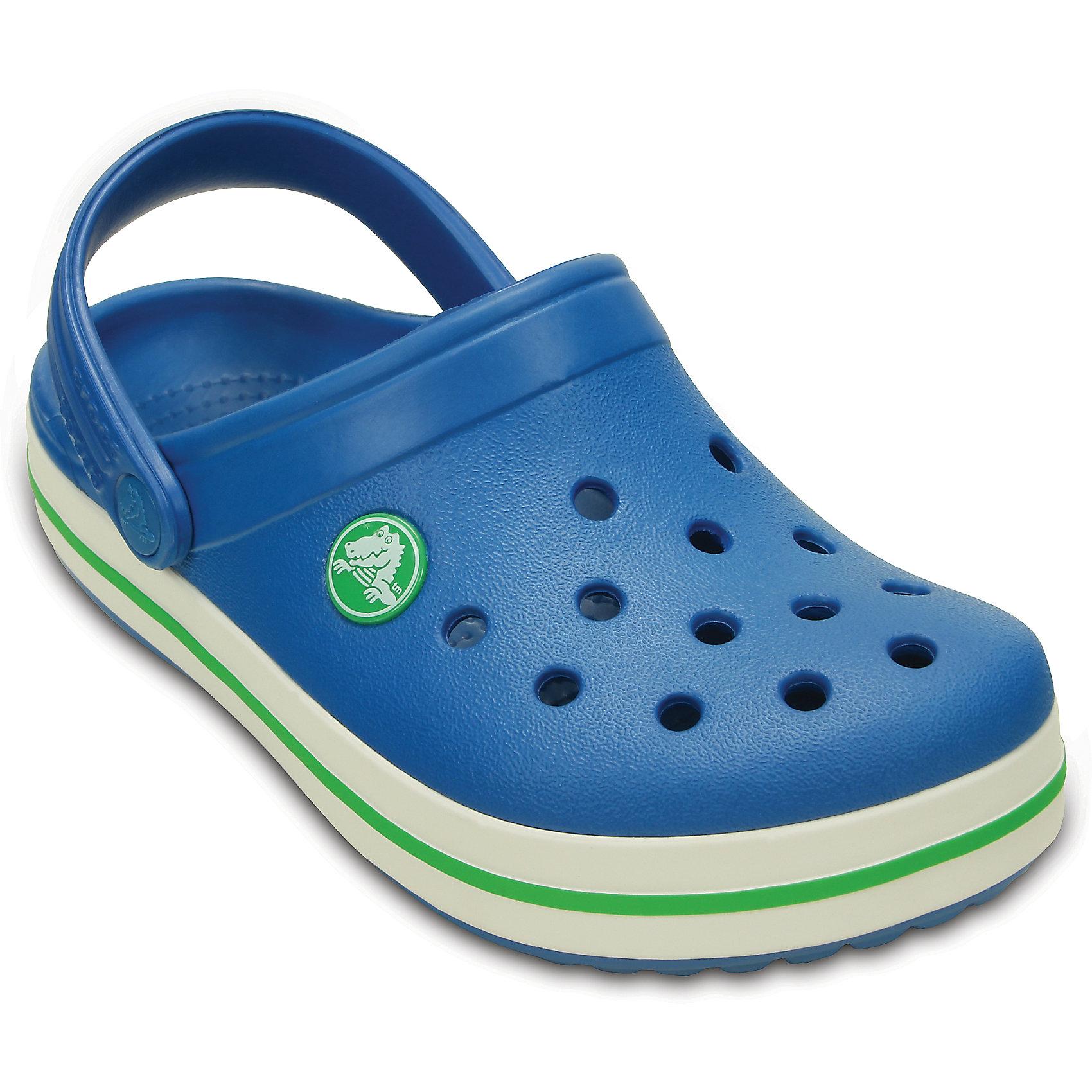 Сабо Kids Crocband™ CrocsПляжная обувь<br>Характеристики товара:<br><br>• цвет: синий<br>• материал: 100% полимер Croslite™<br>• литая модель<br>• вентиляционные отверстия<br>• бактериостатичный материал<br>• пяточный ремешок фиксирует стопу<br>• толстая устойчивая подошва<br>• отверстия для использования украшений<br>• анатомическая стелька с массажными точками стимулирует кровообращение<br>• страна бренда: США<br>• страна изготовитель: Китай<br><br>Для правильного развития ребенка крайне важно, чтобы обувь была удобной. Такие сабо обеспечивают детям необходимый комфорт, а анатомическая стелька с массажными линиями для стимуляции кровообращения позволяет ножкам дольше не уставать. Сабо легко надеваются и снимаются, отлично сидят на ноге. Материал, из которого они сделаны, не дает размножаться бактериям, поэтому такая обувь препятствует образованию неприятного запаха и появлению болезней стоп. <br>Обувь от американского бренда Crocs в данный момент завоевала широкую популярность во всем мире, и это не удивительно - ведь она невероятно удобна. Её носят врачи, спортсмены, звёзды шоу-бизнеса, люди, которым много времени приходится бывать на ногах - они понимают, как важна комфортная обувь. Продукция Crocs - это качественные товары, созданные с применением новейших технологий. Обувь отличается стильным дизайном и продуманной конструкцией. Изделие производится из качественных и проверенных материалов, которые безопасны для детей.<br><br>Сабо от торговой марки Crocs можно купить в нашем интернет-магазине.<br><br>Ширина мм: 225<br>Глубина мм: 139<br>Высота мм: 112<br>Вес г: 290<br>Цвет: разноцветный<br>Возраст от месяцев: 24<br>Возраст до месяцев: 24<br>Пол: Унисекс<br>Возраст: Детский<br>Размер: 25/26,21/22,31/32,34/35,23/24,27/28,29/30,33/34<br>SKU: 4828085