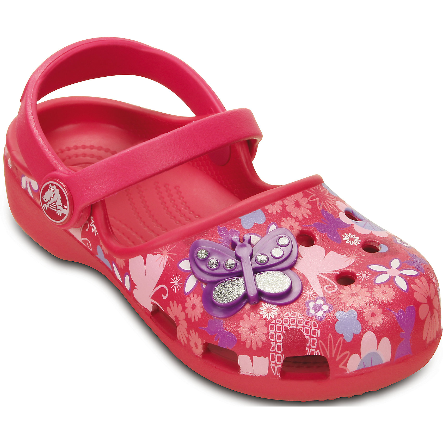 crocs Сабо Girls' Crocs Karin Butterfly Clog для девочки Crocs  crocs crocslights butterfly ps clog toddler little kid