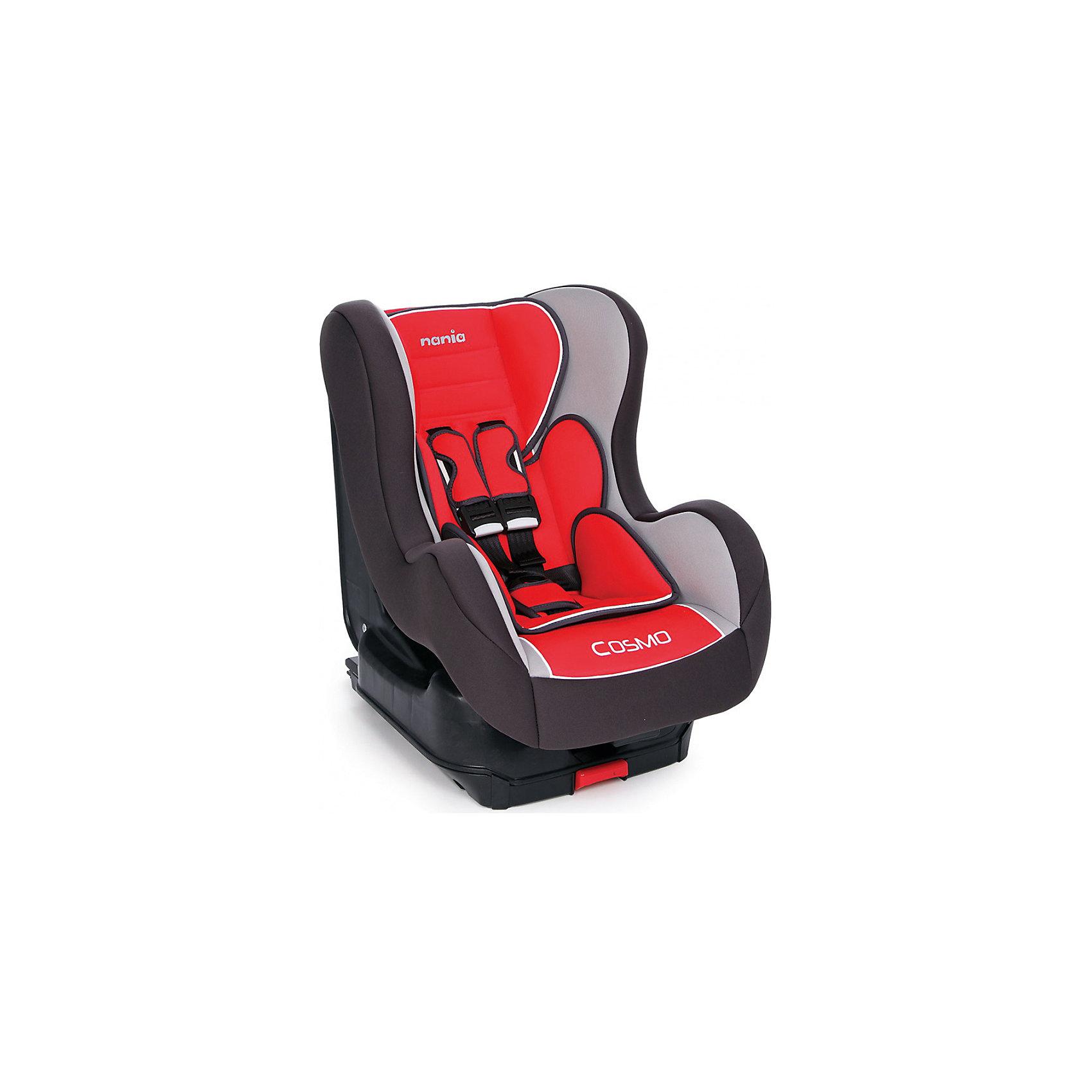 Автокресло COSMO SP isofix 9-18 кг, AGORE CARMIN, Nania, красныйАвтокресло обеспечит сто процентную безопасность и комфортную посадку ребенка в автомобиле!<br>К сиденью кресло крепится автомобильными ремнями, а также имеет собственные пятиточечные ремни безопасности. У спинки кресла есть возможность регулировать наклон и имеются противоударные боковые стенки. <br>При необходимости чехол легко снимается и стирается.<br><br>Характеристики:<br>- Группа 0+/1 ( от 9 до 18 кг).  <br>- Установка лицом по ходу движения на заднем сиденье. <br>- Способ крепления в автомобиле Isofix. <br>- Спинка сиденья имеет 5 положений наклона. <br>- Дополнительные подушки 2 шт. <br>- 5-точечные ремни, со звуковым оповещением. <br>- Приятный материал ткани обивки.<br><br>Дополнительная информация:<br><br>- Возраст: от 0 до 4 лет.<br>- Материал: пластик, текстиль.<br>- Цвет: красный.<br>- Размер упаковки: 60х50х70 см.<br>- Вес в упаковке: 11030 г.<br><br>Купить автокресла COSMO SP isofix 9-18 кг, AGORA CARMIN, в красном цвете, можно в нашем магазине.<br><br>Ширина мм: 600<br>Глубина мм: 500<br>Высота мм: 700<br>Вес г: 11030<br>Возраст от месяцев: 9<br>Возраст до месяцев: 36<br>Пол: Унисекс<br>Возраст: Детский<br>SKU: 4828317