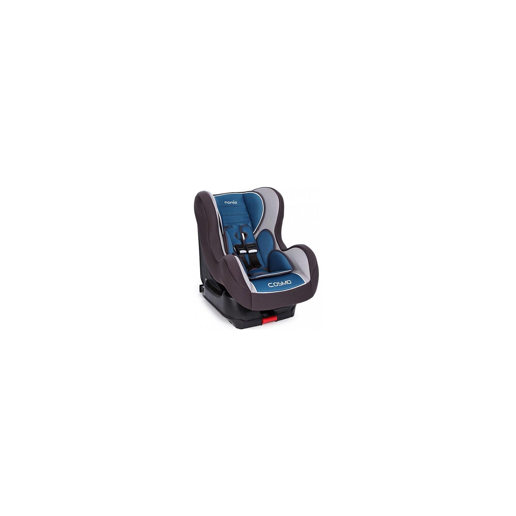 Автокресло Nania COSMO SP isofix 9-18 кг, AGORE PETROLE, голубойАвтокресла с креплением Isofix<br>Автокресло обеспечит сто процентную безопасность и комфортную посадку ребенка в автомобиле!<br>К сиденью кресло крепится автомобильными ремнями, а также имеет собственные пятиточечные ремни безопасности. У спинки кресла есть возможность регулировать наклон и имеются противоударные боковые стенки. <br>При необходимости чехол легко снимается и стирается.<br><br><br>Характеристики:<br>- Группа 0+/1 ( от 9 до 18 кг).  <br>- Установка лицом по ходу движения на заднем сиденье. <br>- Способ крепления в автомобиле Isofix. <br>- Спинка сиденья имеет 5 положений наклона. <br>- Дополнительные подушки 2 шт. <br>- 5-точечные ремни, со звуковым оповещением. <br>- Приятный материал ткани обивки.<br><br>Дополнительная информация:<br><br>- Возраст: от 0 до 4 лет.<br>- Материал: пластик, текстиль.<br>- Цвет: голубой.<br>- Размер упаковки: 60х50х70 см.<br>- Вес в упаковке: 11030 г.<br><br>Купить автокресла COSMO SP isofix 9-18 кг, AGORA PETROLE, в голубом цвете, можно в нашем магазине.<br><br>Ширина мм: 600<br>Глубина мм: 500<br>Высота мм: 700<br>Вес г: 11030<br>Возраст от месяцев: 9<br>Возраст до месяцев: 36<br>Пол: Мужской<br>Возраст: Детский<br>SKU: 4828318