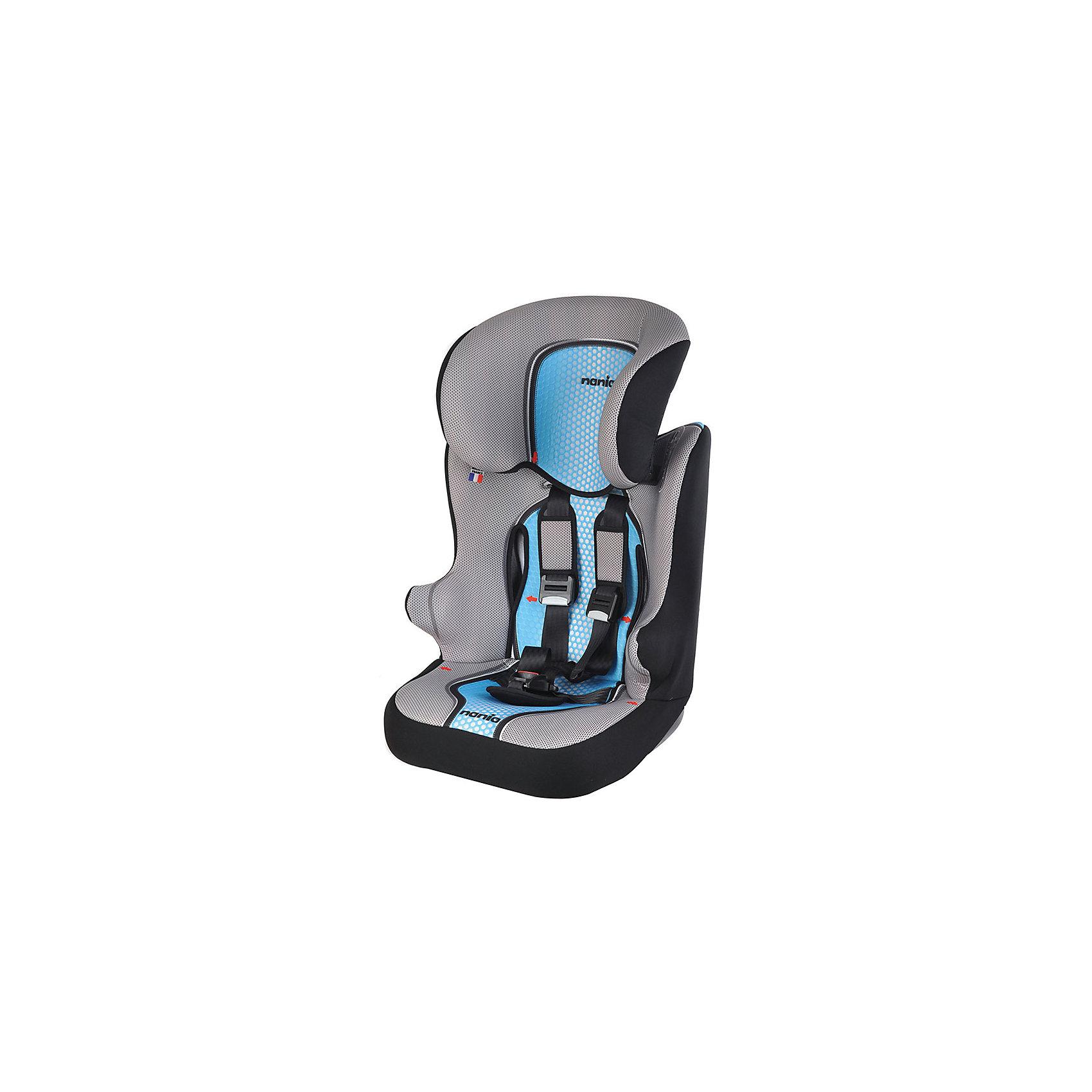 Автокресло Nania RAСER SP 9-36 кг, POP, синийГруппа 1-2-3 (От 9 до 36 кг)<br>Автокресло было разработано учитывая самые жесткие требования безопасности, а также учитывая ортопедические требования: мягкая приятная на ощупь обивка и анатомическая форма. <br>Удобный, широкий подголовник, спинка и подлокотники обеспечат дополнительный комфорт и безопасность ребенка даже в случае бокового столкновения. Высоту подголовника можно регулировать, а все тканевые части легко снимаются и стираются.<br>В таком кресле Ваш ребенок будет чувствовать себя комфортно даже в  поездках на далекие растояния!<br><br>Характеристики:<br>- Максимально допустимый вес ребенка 36 кг.<br>- Пятиточечные ремни безопасности.<br>- Мягкий подголовник регулируется по высоте.<br>- Материал корпуса – ударопрочный пластик.<br>- Чехол можно снять и постирать.<br>- Способ крепления в автомобиле – штатными ремнями безопасности<br>фиксирующий зажим ремня безопасности.<br>- Улучшенная боковая защита (Side Protection).<br>- Анатомическая подушка.<br>- Спинка и сиденье цельное, в бустер не превращается.<br>- Соответствует европейскому стандарту ЕСЕ R44/03.<br><br>Дополнительная информация:<br><br>- Возраст: от 1 до 10 лет.<br>- Материал: пластик, текстиль.<br>- Цвет: синий.<br>- Размер упаковки: 45х50х70 см.<br>- Вес в упаковке: 4900 г.<br><br>Купить автокресла RAСER SP 9-36 кг, POP, в черном цвете, можно в нашем магазине.<br><br>Ширина мм: 450<br>Глубина мм: 500<br>Высота мм: 700<br>Вес г: 4900<br>Возраст от месяцев: 12<br>Возраст до месяцев: 144<br>Пол: Мужской<br>Возраст: Детский<br>SKU: 4828324