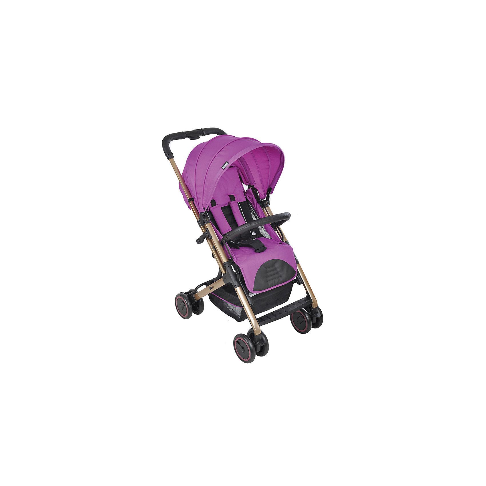 Прогулочная коляска Pituso NAVARRA, фиолетовыйПрогулочные коляски<br>Современная, безопасная, легкая и невероятно удобная прогулочная коляска оснащена системой мультикомпактного складывания, а телескопическая выдвижная ручка позволяет совершать перемещения коляски в сложенном виде. Ткань обивки мягкая и приятная на ощупь. Коляска легко моется и быстро сохнет.<br><br>Характеристики:<br>- Регулировка спинки с помощью ремня;<br>- Передние поворотные колеса;<br>- Общий тормоз задних колес;<br>- 5-ти точечный ремень безопасности с мягкими накладками;<br>- Жесткое сиденье;<br>- Съемный бампер;<br>- Корзина для покупок;<br>- Алюминиевая рама с покрытием;<br>- Выдвижная телескопическая ручка, удобная для передвижения коляски в сложенном виде;<br>- Эргономичный матрас выполнен из дышащей ткани;<br>- Съемный подголовник-подушка;<br>- Боковая вентиляция сиденья;<br>- Мультикомпактное сложение;<br>- Кожаные накладки на ручки.<br> Комплектация:<br> - Корзина для принадлежностей.<br><br>Дополнительная информация:<br><br>- Цвет: фиолетовый.<br>- Размер упаковки: 100х51х80 см.<br>- Вес в упаковке: 6100 г.<br><br>Купить прогулочную коляску NAVARRA, Pituso, в фиолетовом цвете, можно в нашем магазине.<br><br>Ширина мм: 1000<br>Глубина мм: 510<br>Высота мм: 800<br>Вес г: 6100<br>Возраст от месяцев: 6<br>Возраст до месяцев: 36<br>Пол: Женский<br>Возраст: Детский<br>SKU: 4828348